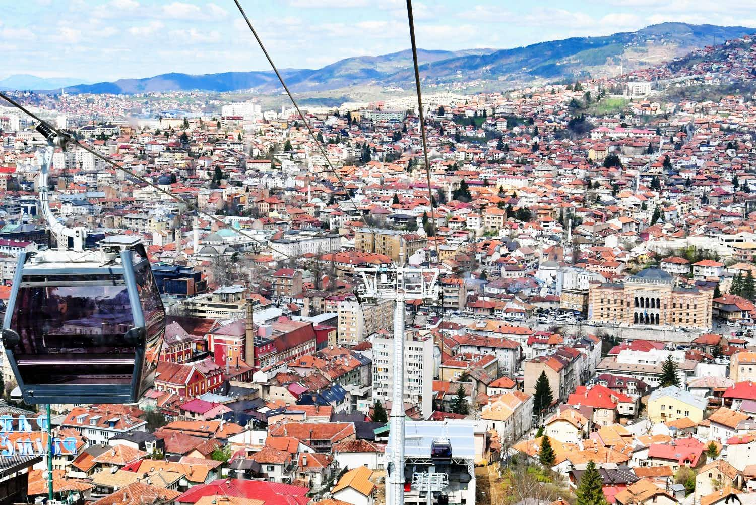 Sarajevo reopens its famous cable car in Mount Trebević after 26 years