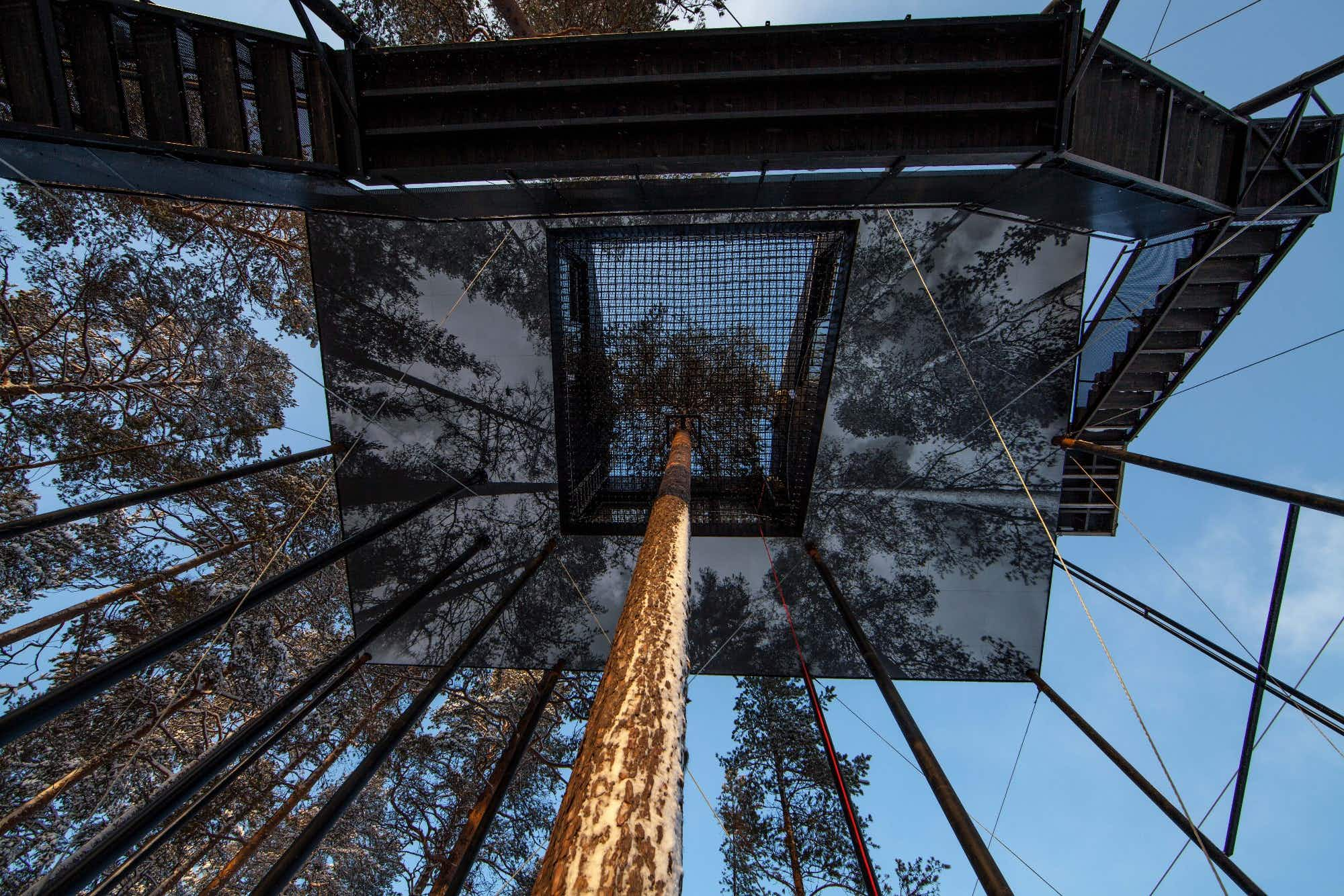 Stay in an invisible room at this quirky Swedish tree house hotel