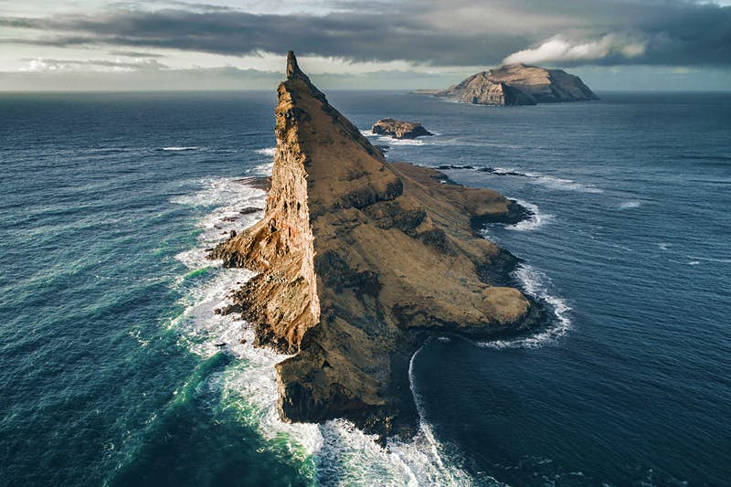 A photograph taken at Vagar in the Faroe Islands.