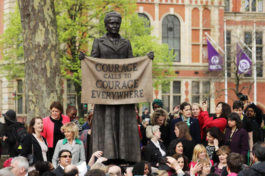 London's Parliament Square has its first statue of a woman