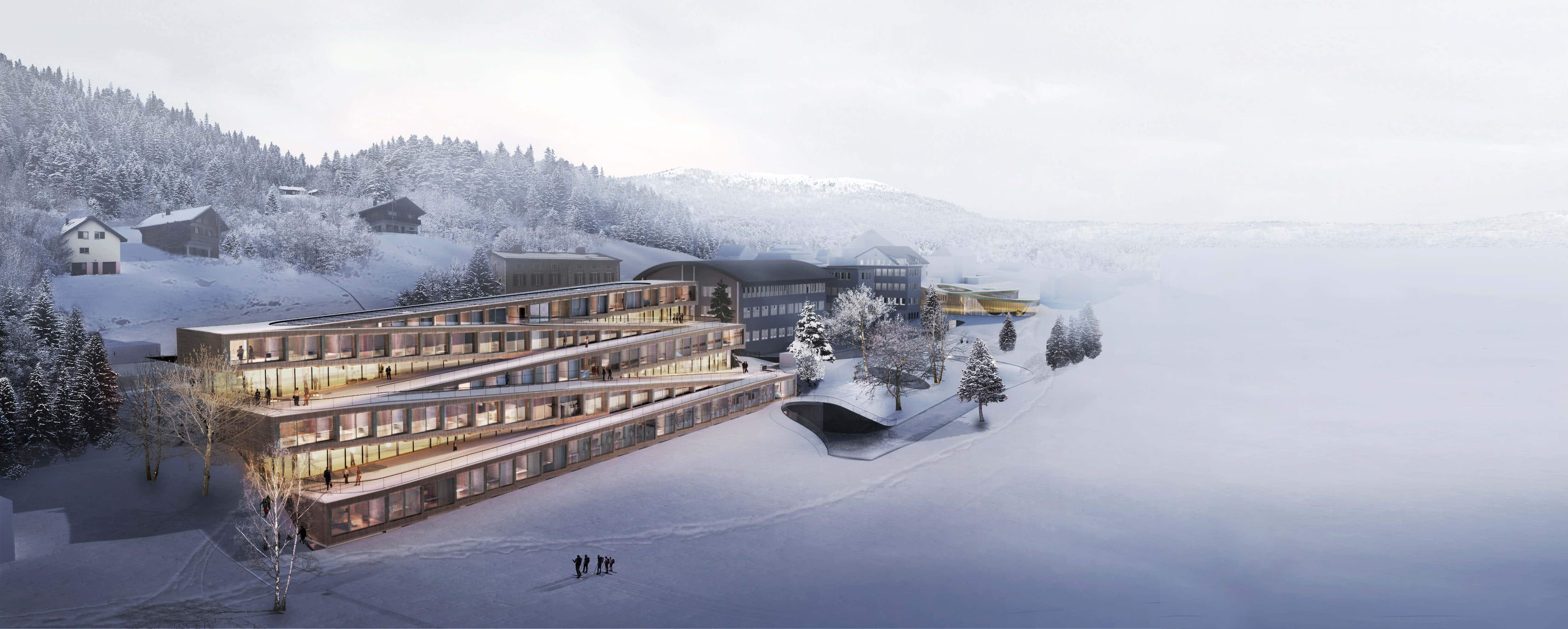 Ski from the roof to the slopes at this new Swiss hotel