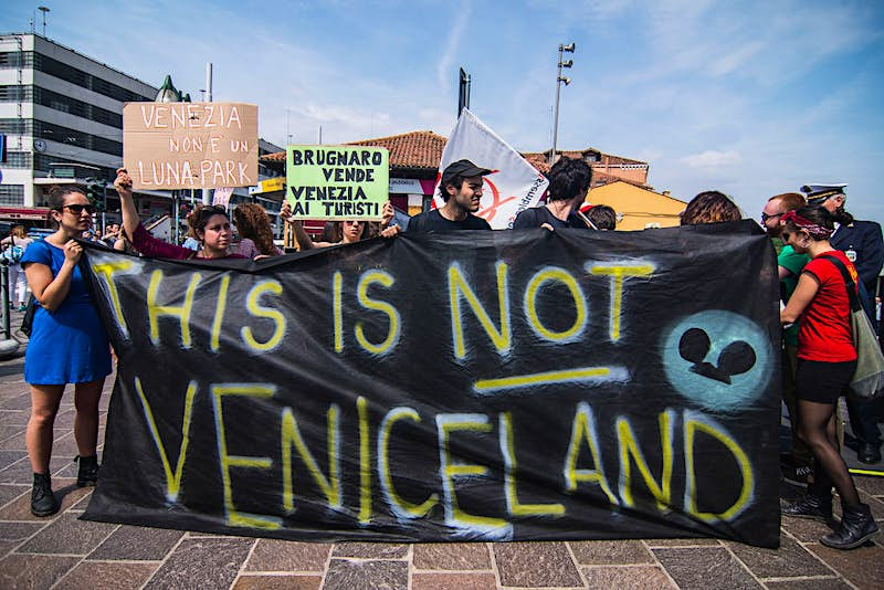 Travel News - Protesters Take Action Against Turnstile Installation in Venice