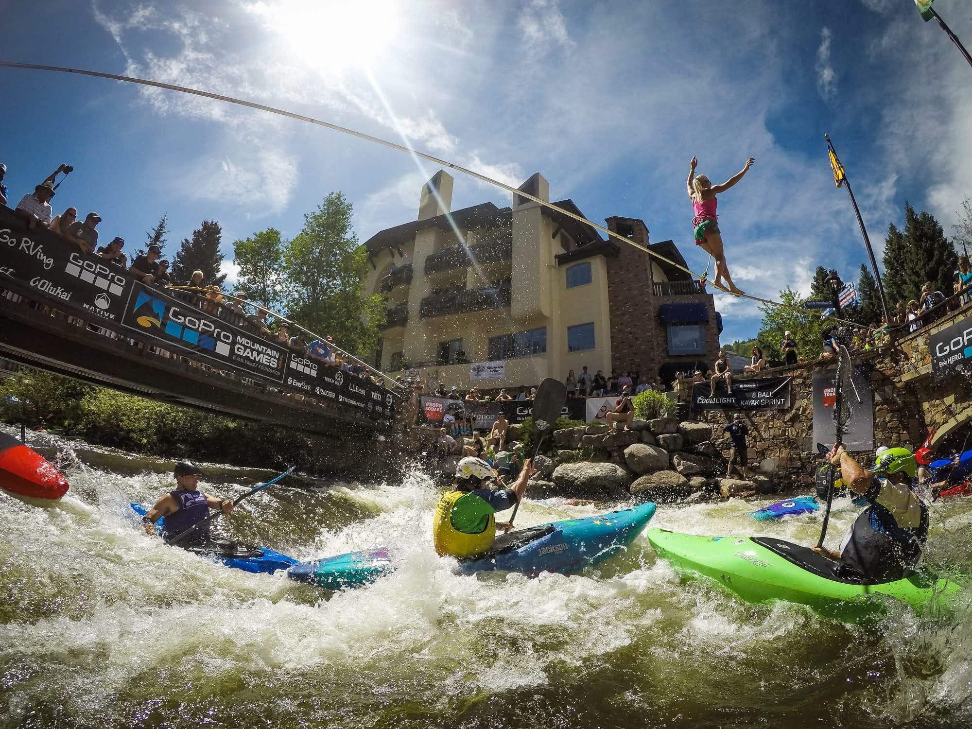 Colorado Rockies is set to host the GoPro Mountain games, combining adventure sports, yoga and dog competitions