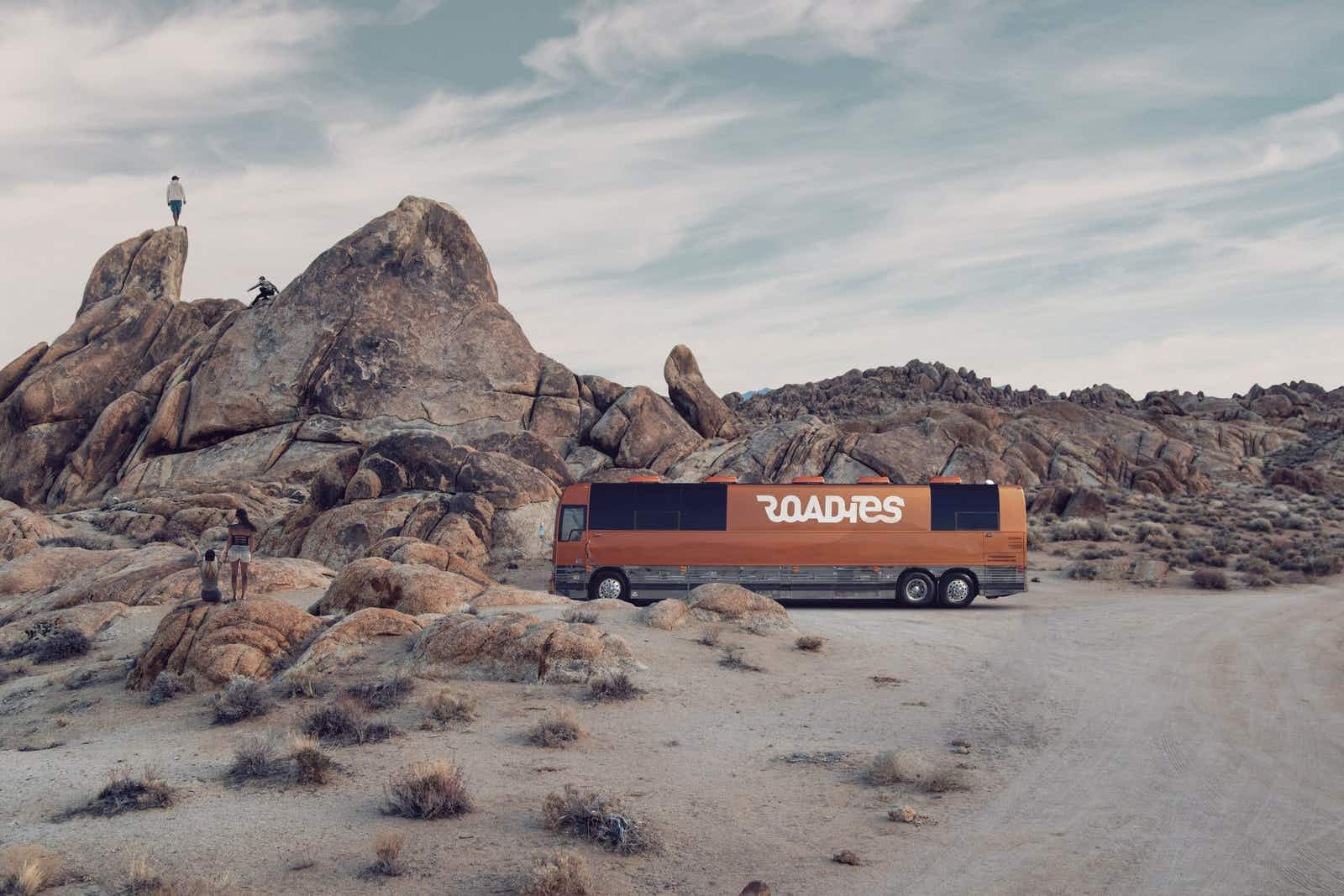 Take a West Coast road trip in a bus built for rock stars