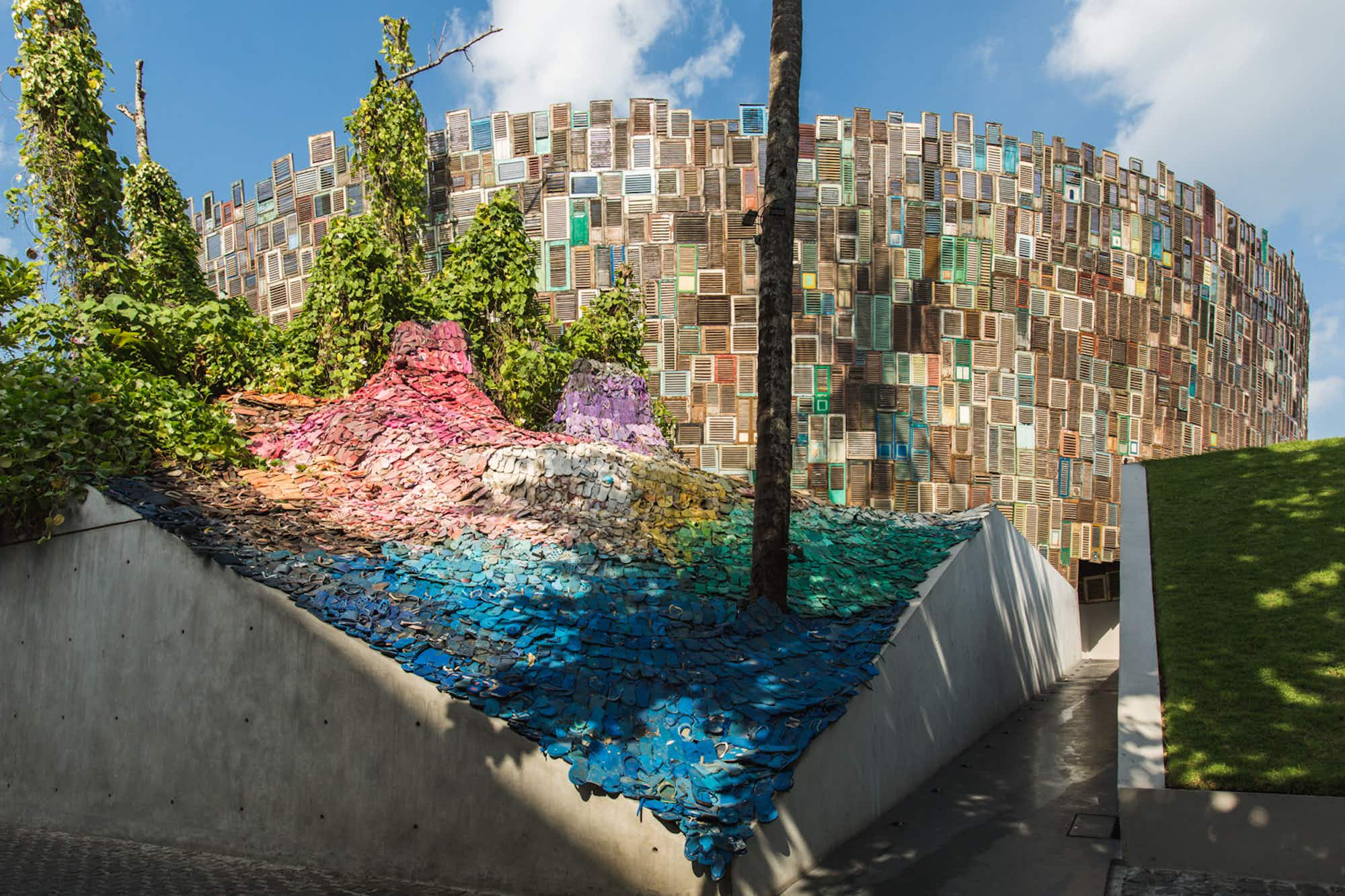 Your lost flip-flops could be part of this new thoughtful art installation in Bali