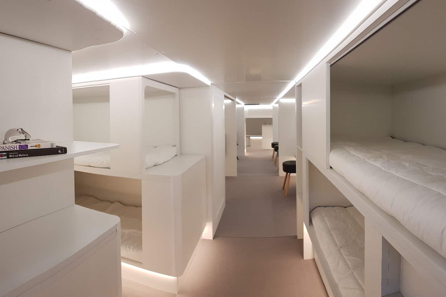 You could be sleeping in a bunk bed in economy on a flight in the future