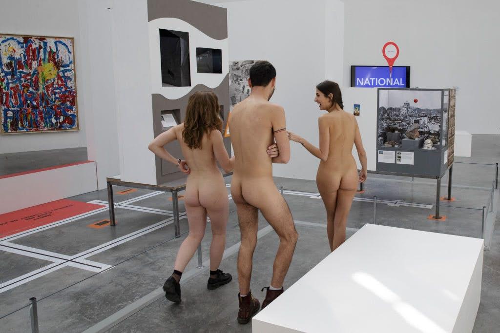 The mayor's office is  keen to back the idea of a dedicated nudist area in Paris.  Image: Geoffroy Van Der Hasselt/Getty