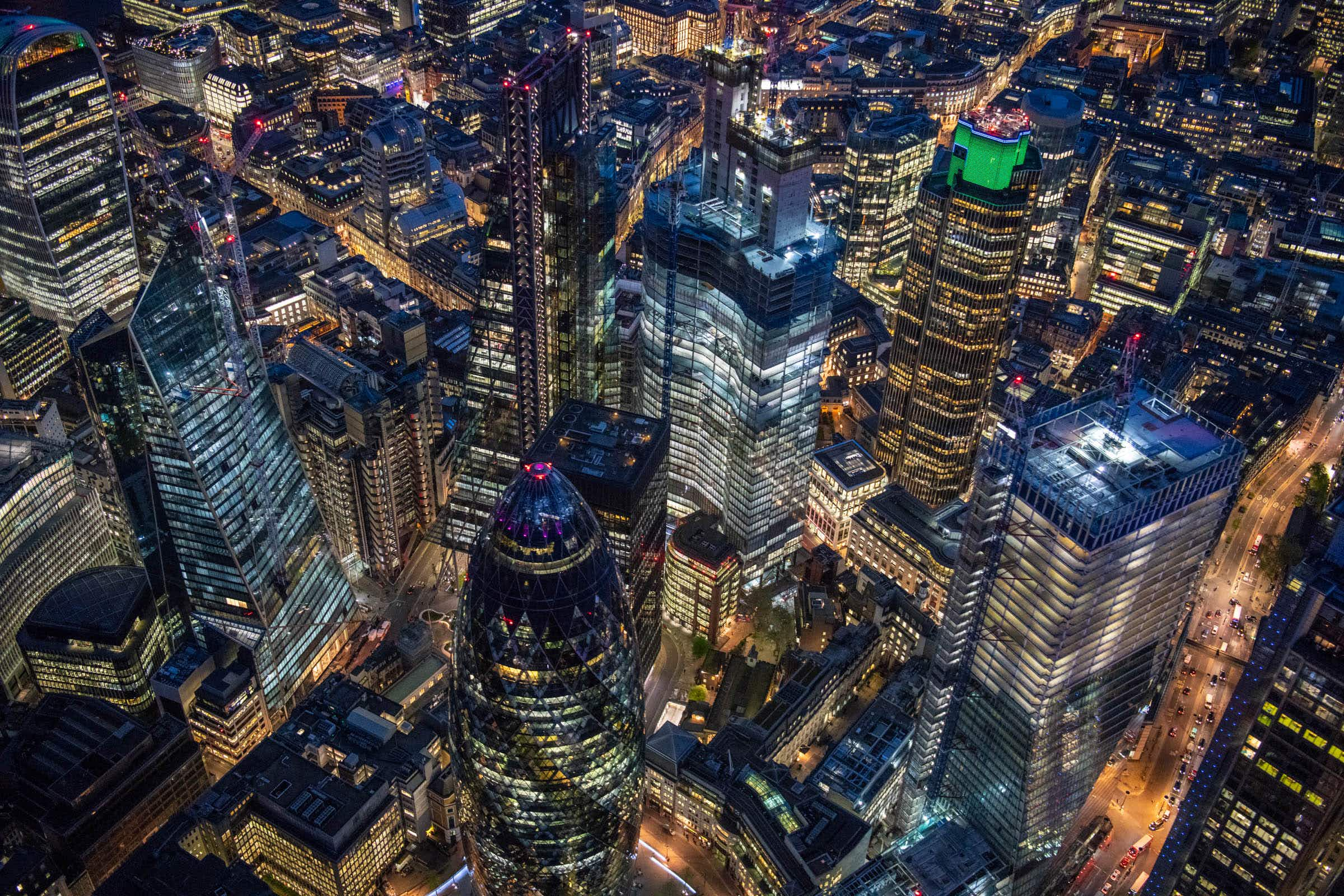 You won't believe how cool these images are of London shot from a helicopter