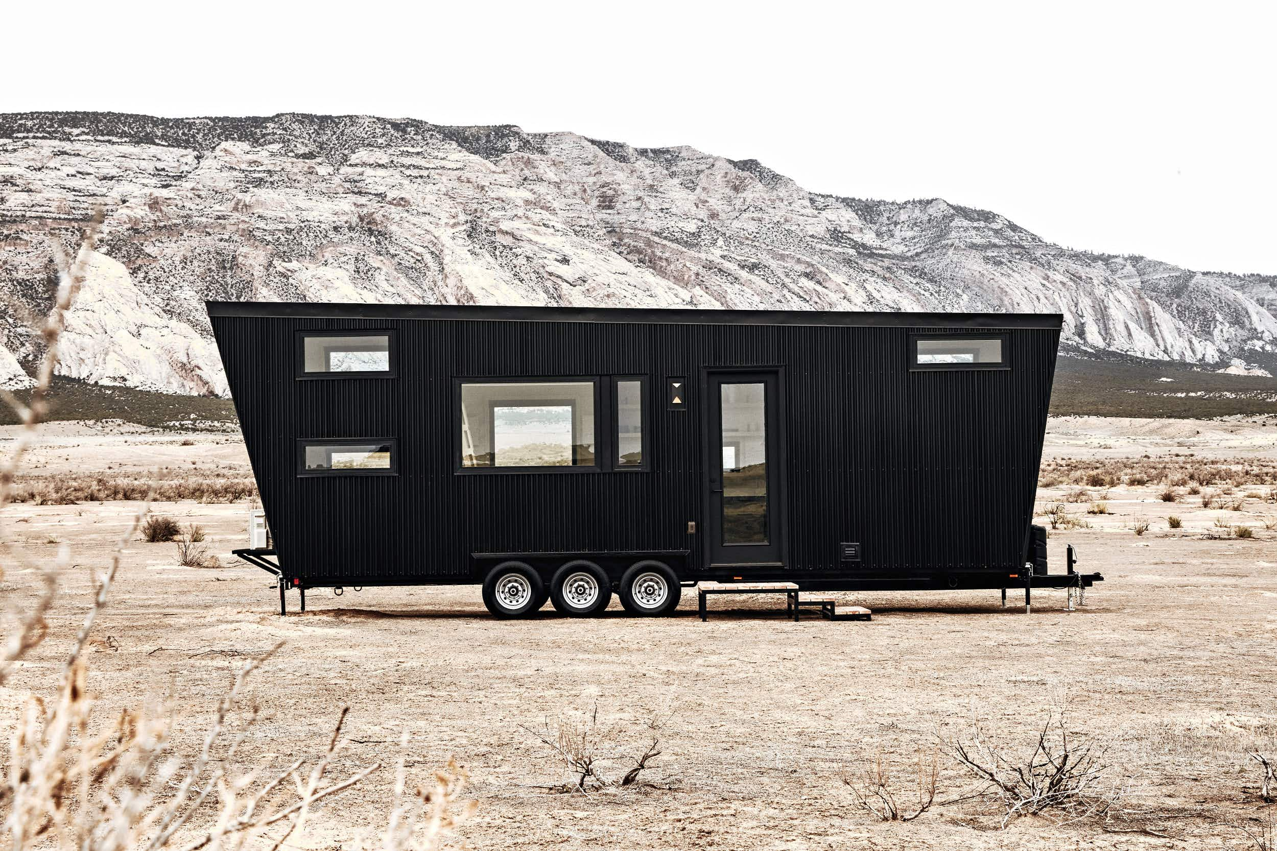 Is the inside of this sleek black trailer the epitome of contemporary coolness?