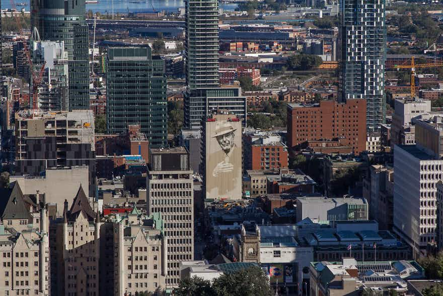 Check out this footage of Montréal's Leonard Cohen mural being created