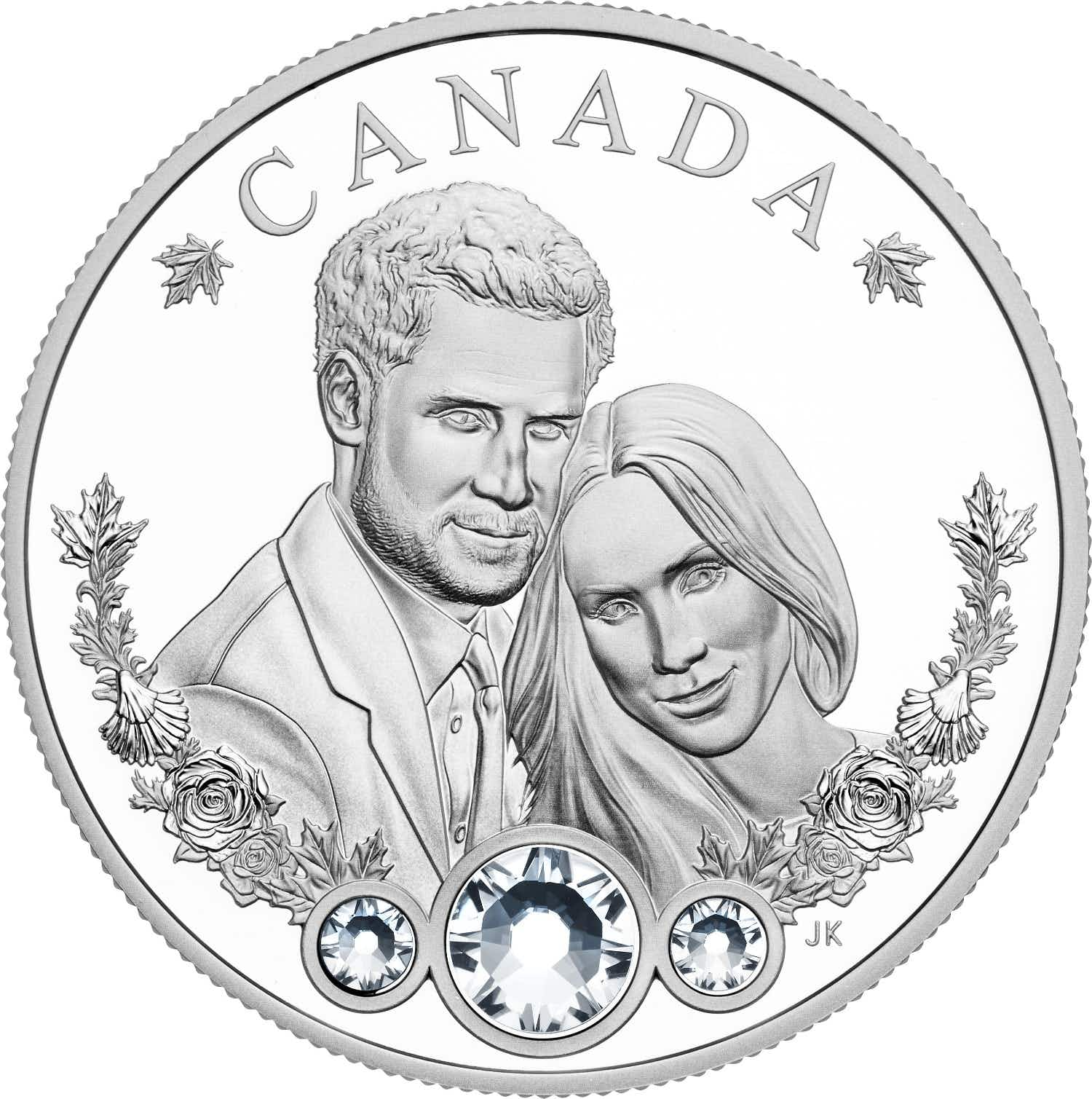 Visitors to Canada can purchase a silver coin in honour of Meghan Markle's marriage to Prince Harry