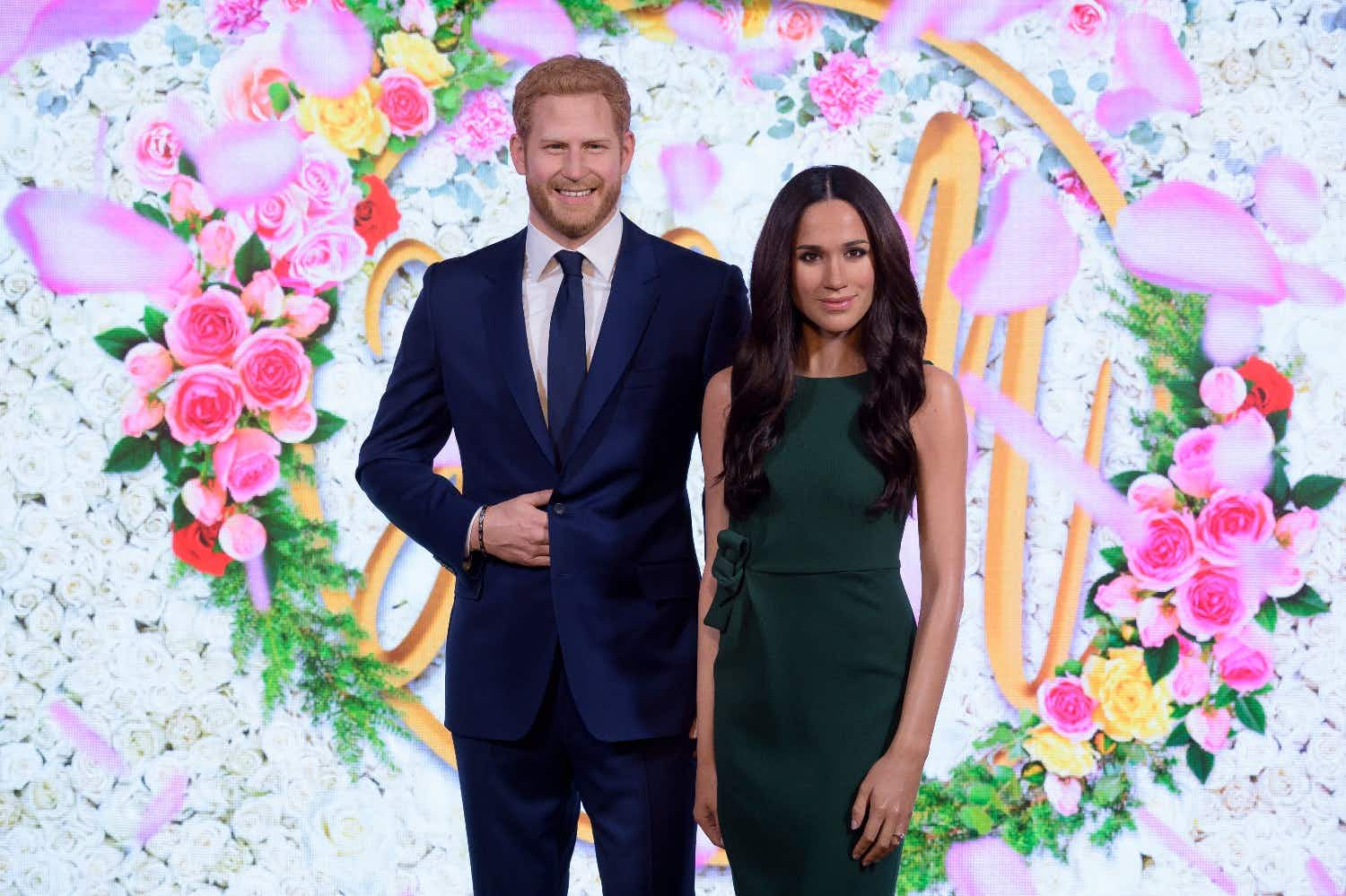 Meghan and Harry arriving at Madame Tussauds © Madame Tussauds London
