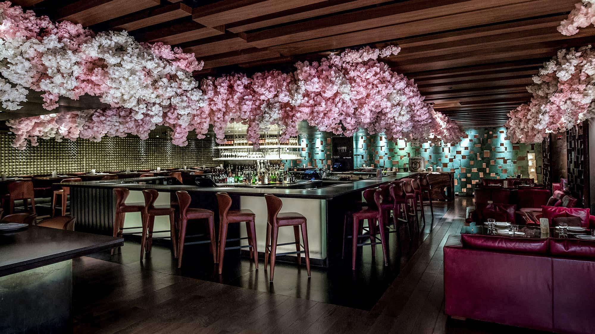 This NYC restaurant has been transformed by 1000 cherry blossoms