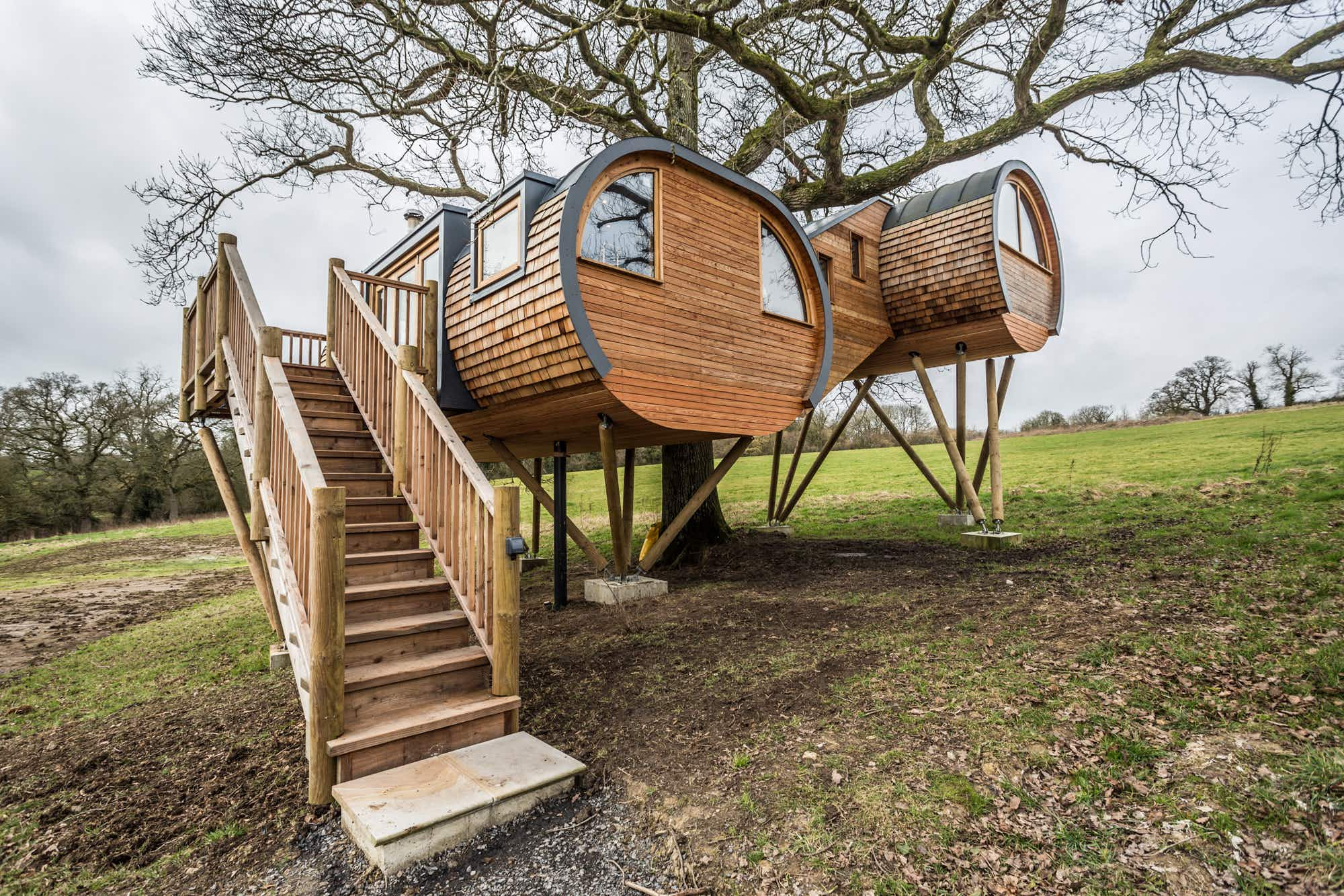Stay in an amazing tree-mansion with a copper tub in Somerset