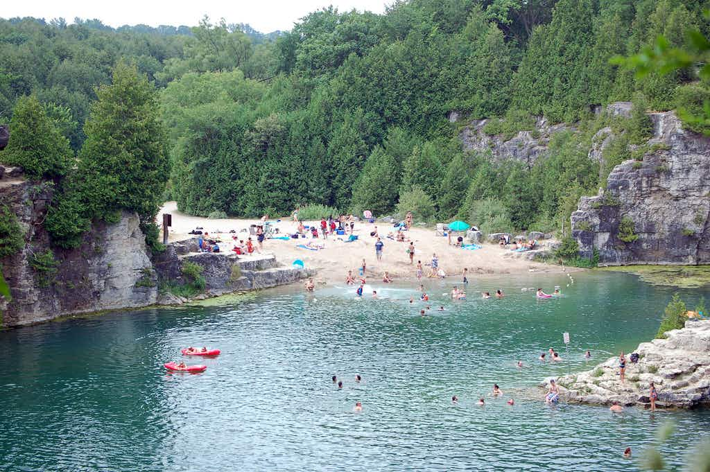 A beautiful swimming hole will open next month in Canada after a cold winter