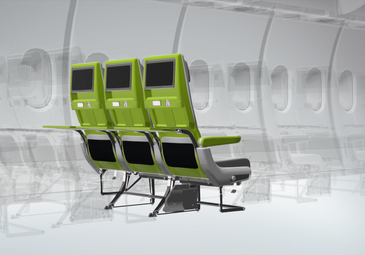 Airplane seat manufacturer says that germ-free travel could soon be a reality