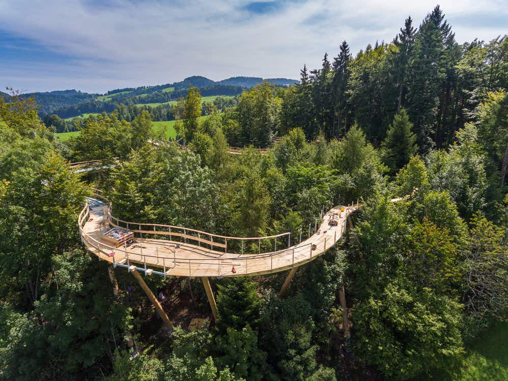 Switzerland gets its first treetop canopy walkway