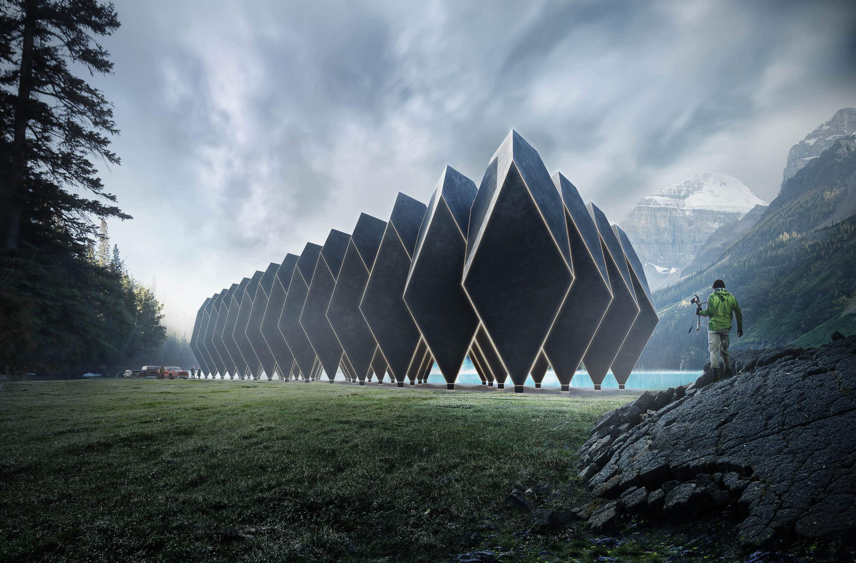 Where in the world could this futuristic hotel be located?