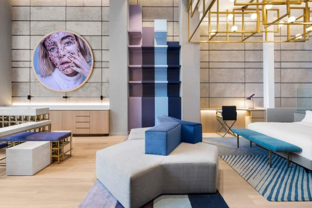 The décor of this Canadian hotel is inspired by Montreal's cultural icons