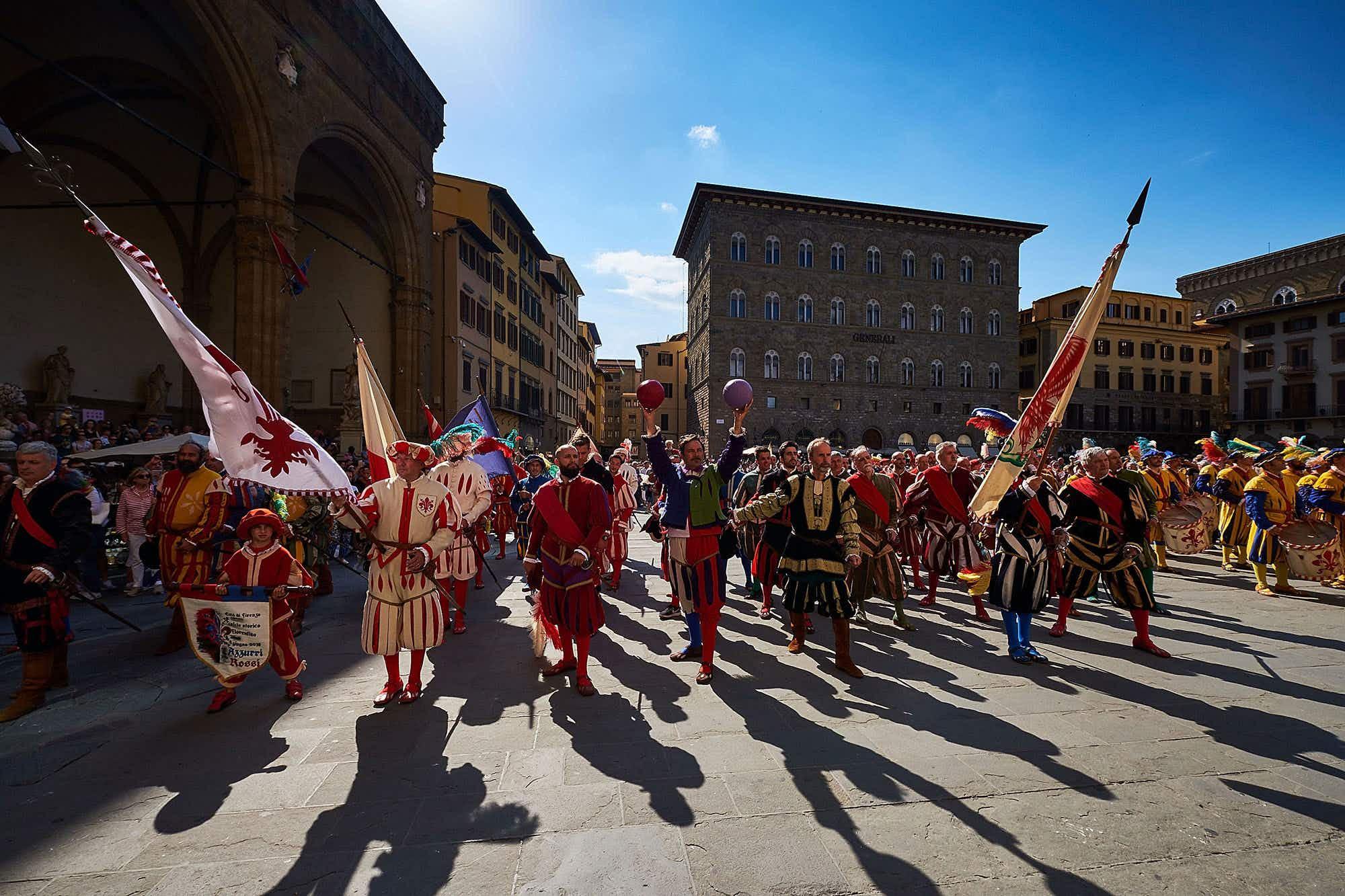 See Florence's modern day gladiators square up for 'Calcio Storico Fiorentino'