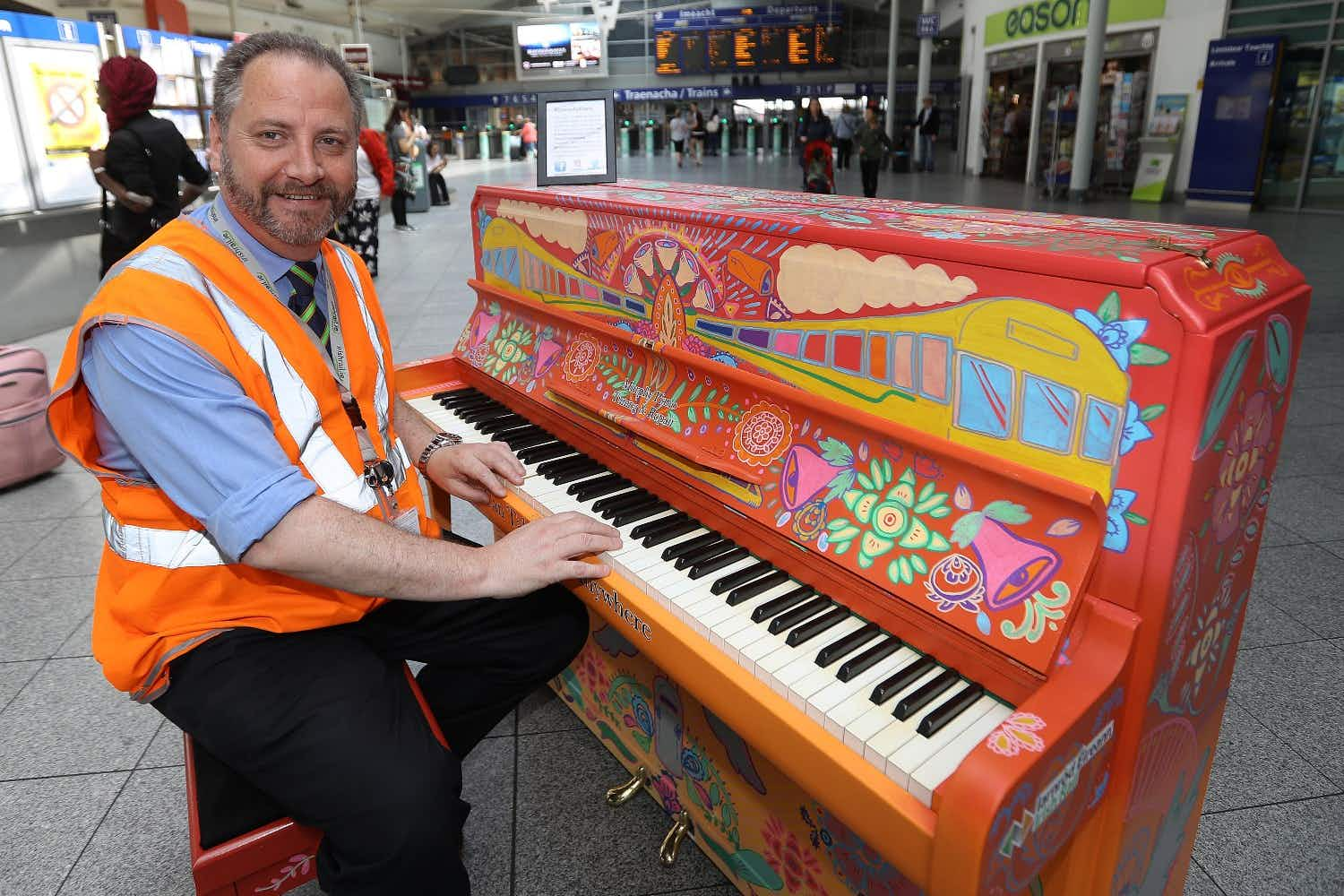 Something magical happens when a medical student stumbles across a piano in an Irish train station