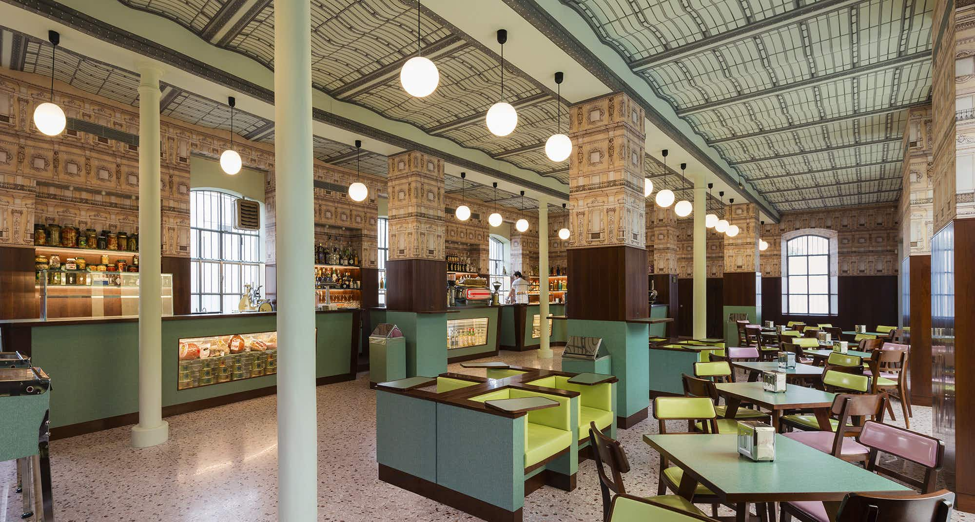 Wes Anderson has designed a cafe in Milan, and it is everything you expect