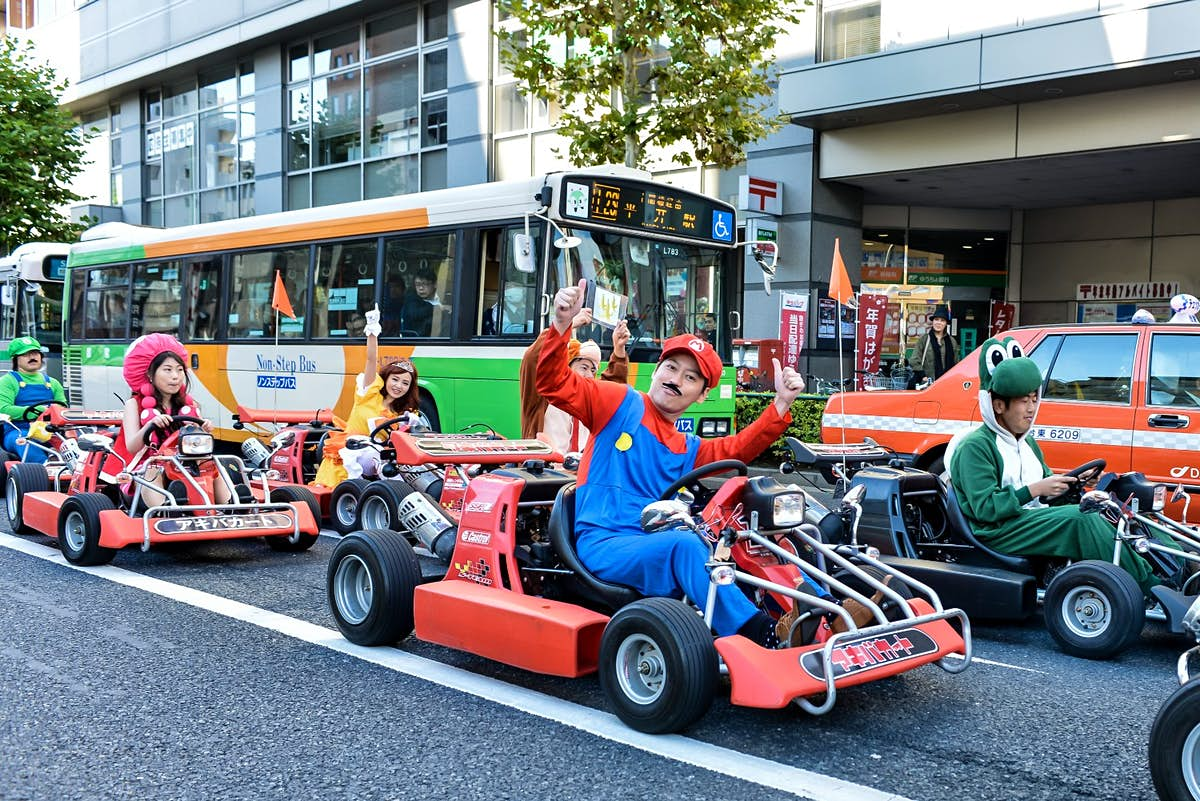 Tour A Japanese City In A Go Kart Dressed As A Super Mario