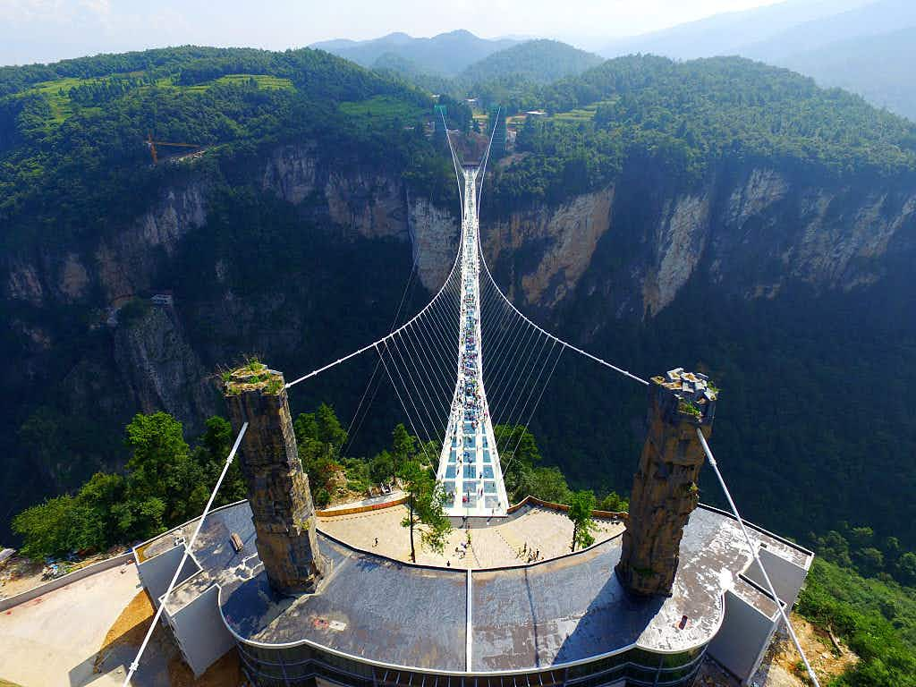 Adrenaline lovers will soon be able to jump off the world's highest bungee platform in China