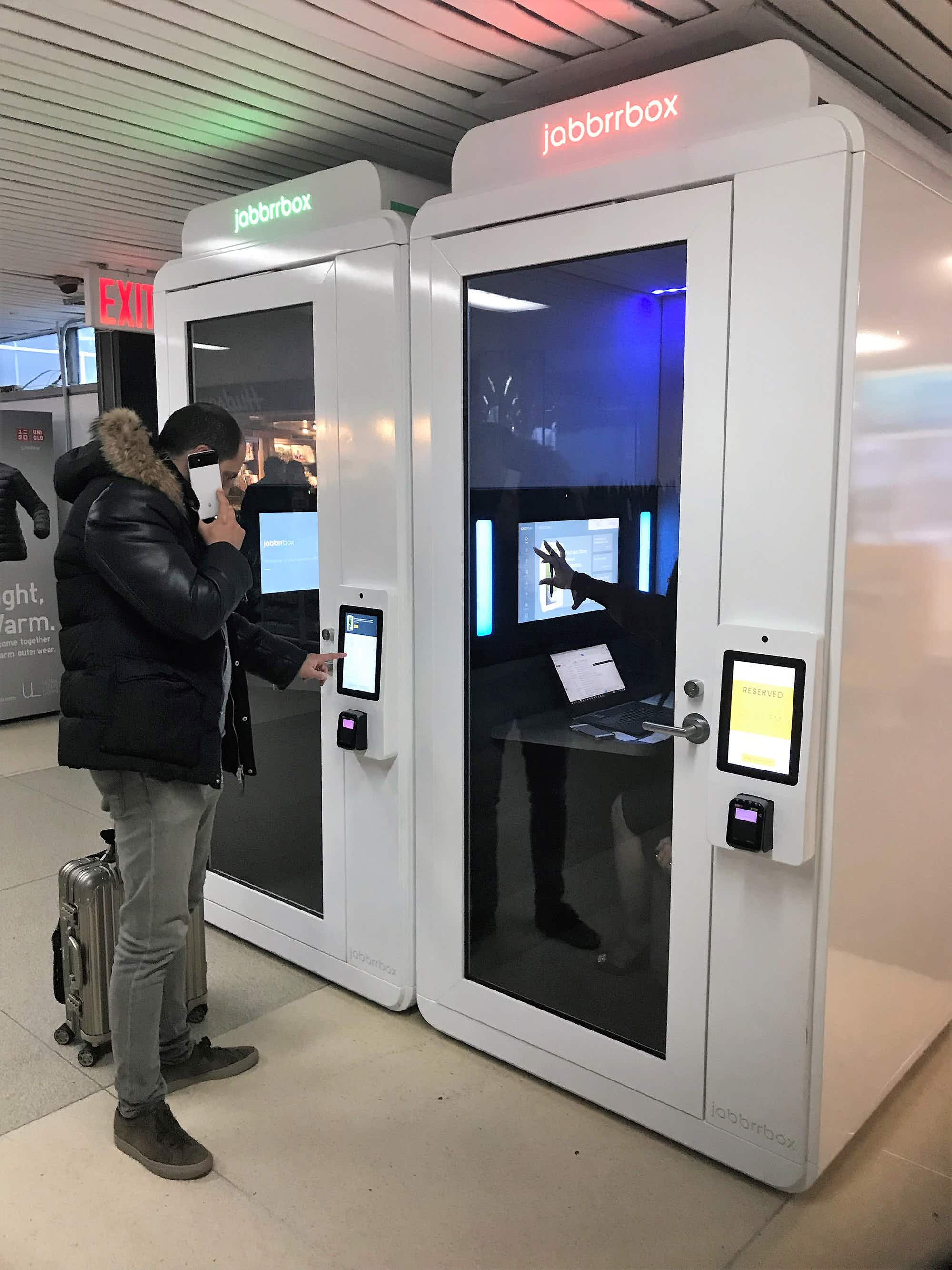 One NYC airport is introducing private booths where you can work in peace