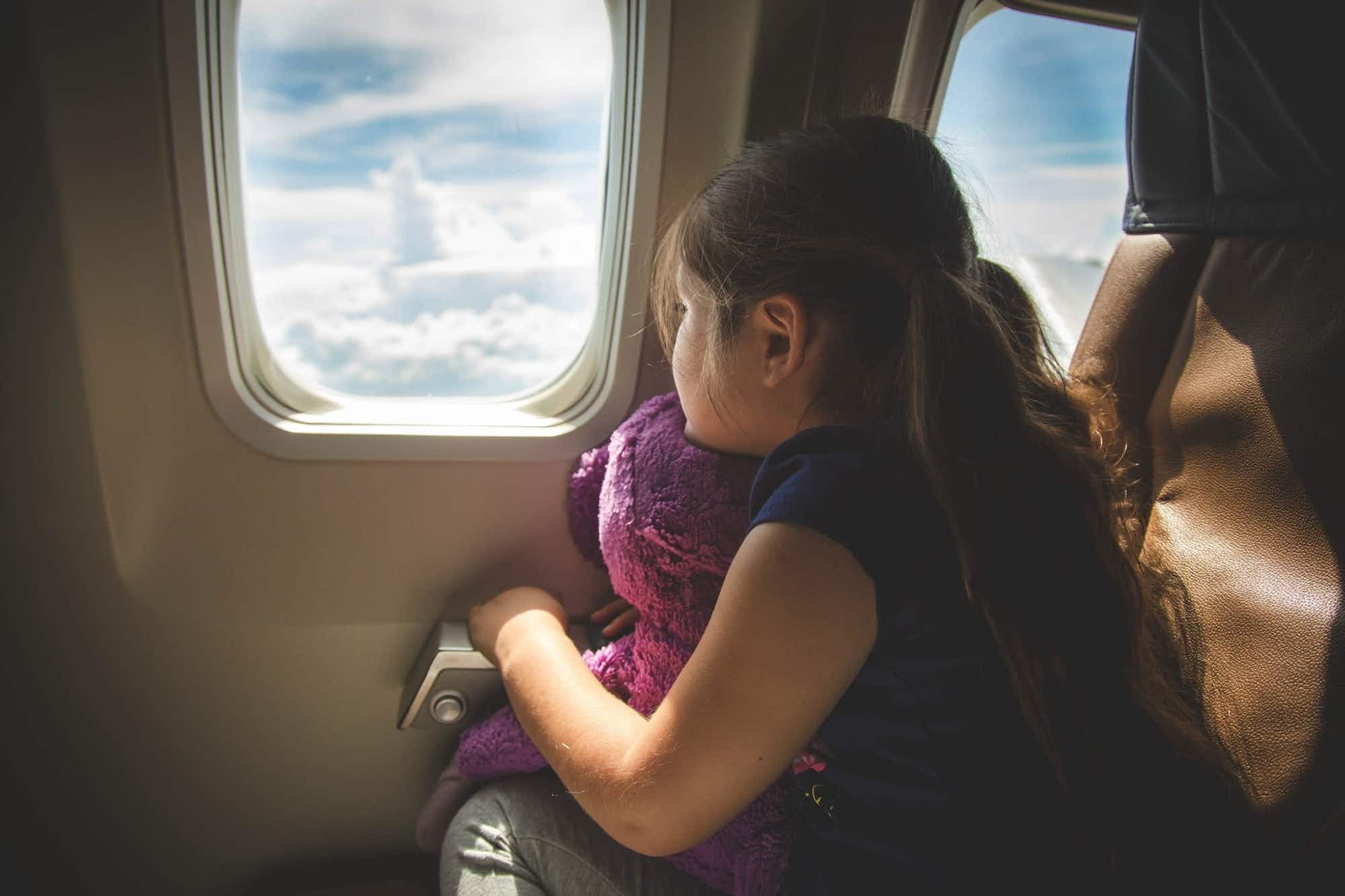 How do you keep children entertained and quiet on the plane?