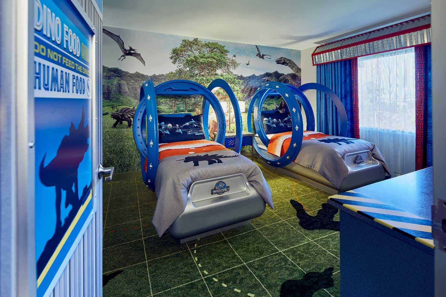 Dinosaur-mad kids will love staying at these Jurassic World-themed hotel suites