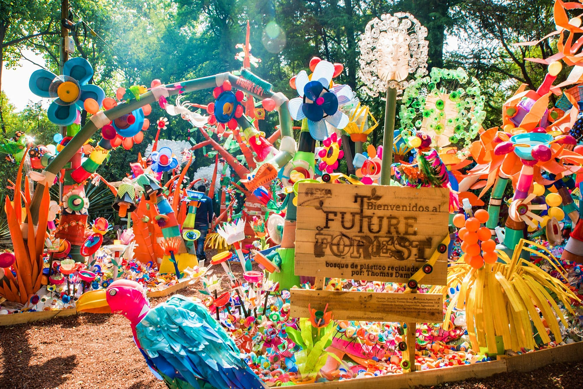 enchanted forest decorations.htm this  forest  in mexico is made from recycled plastic lonely planet  mexico is made from recycled plastic