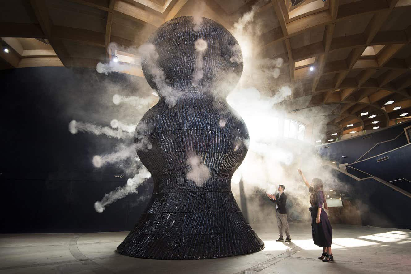 Don't miss the largest 'breathing' ceramic sculpture in the world at the Eden Project