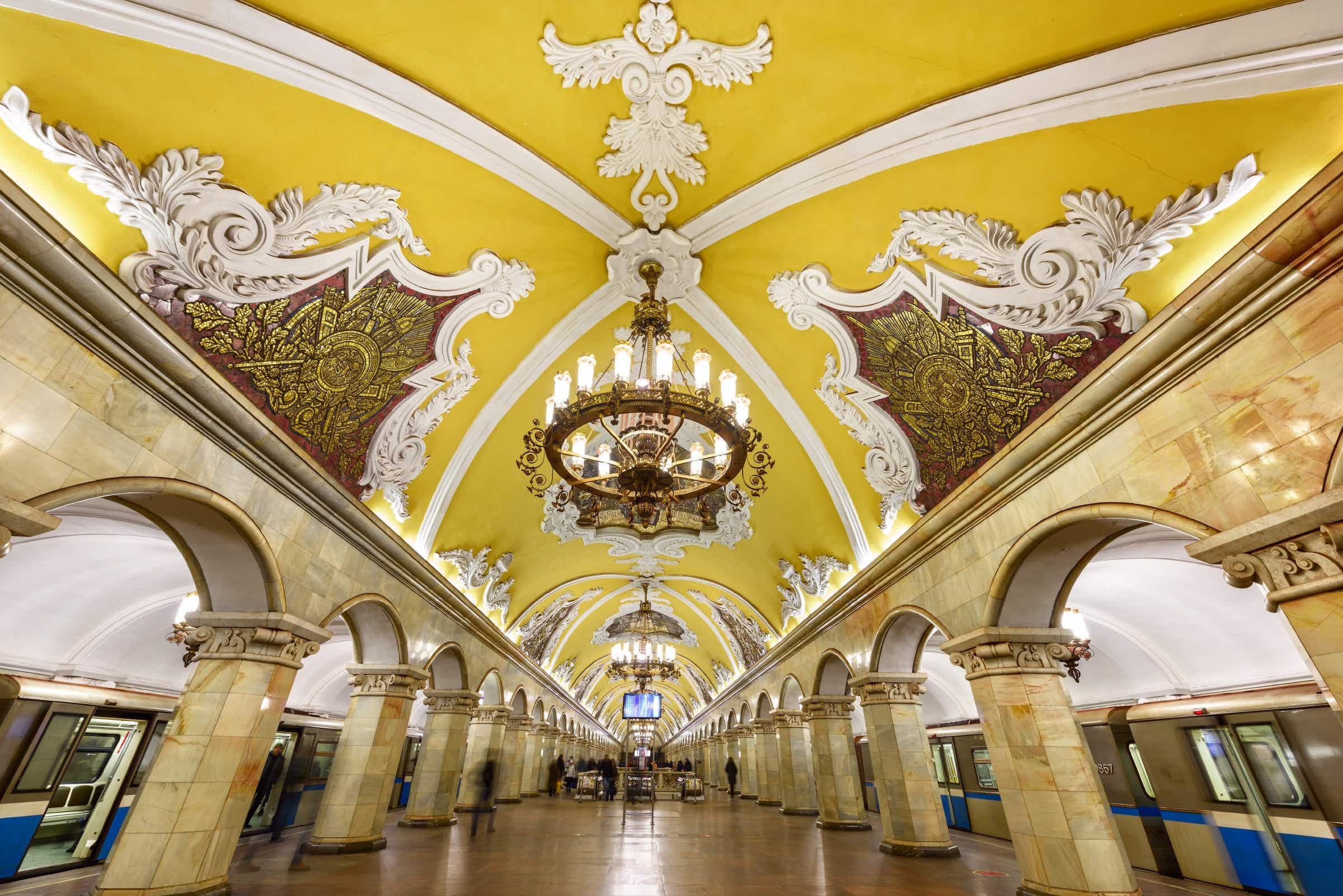 Football fans in Russia can now easily explore Moscow's famous Metro