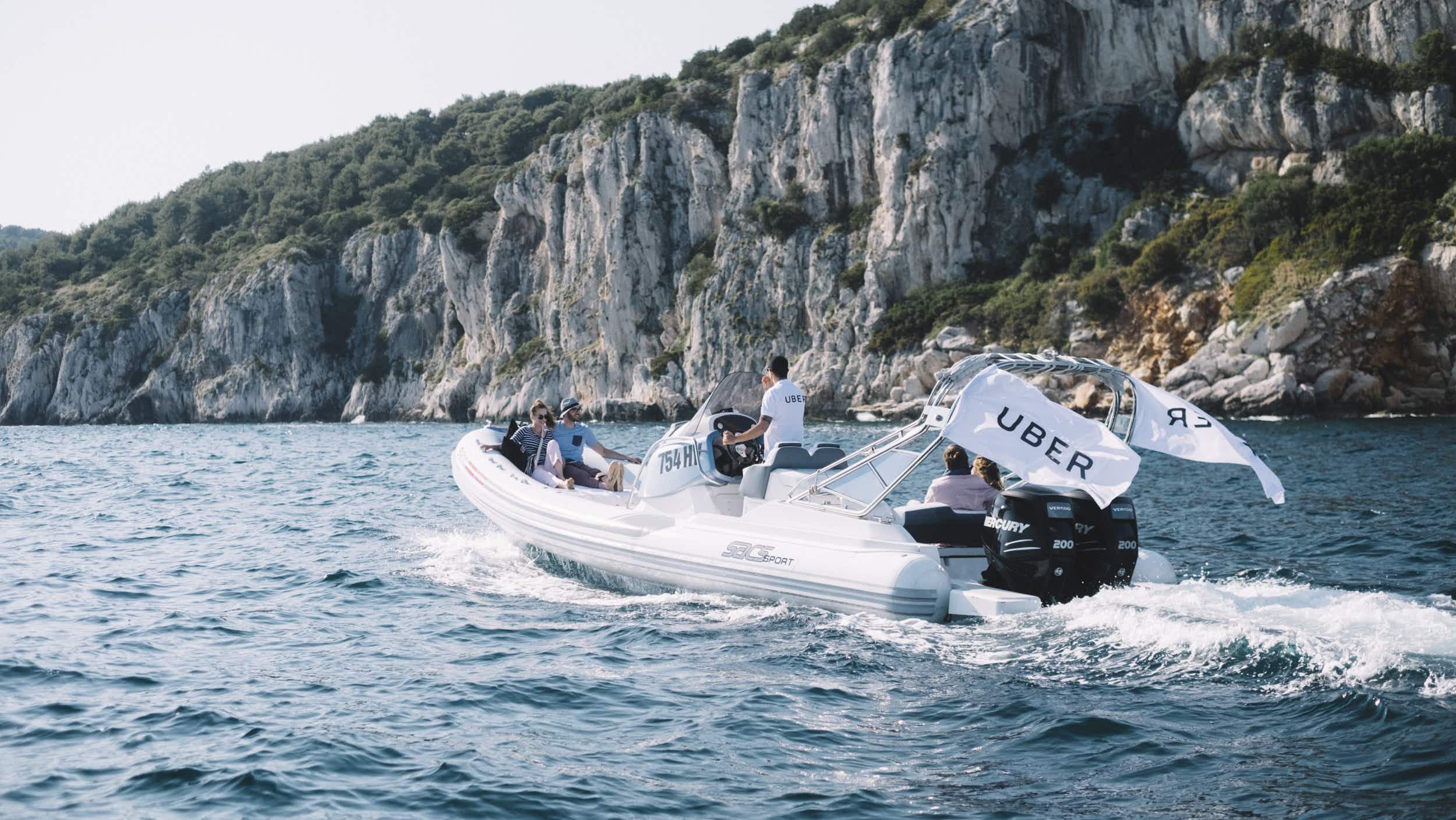 Explore the Croatian coastline and islands in an UberBoat
