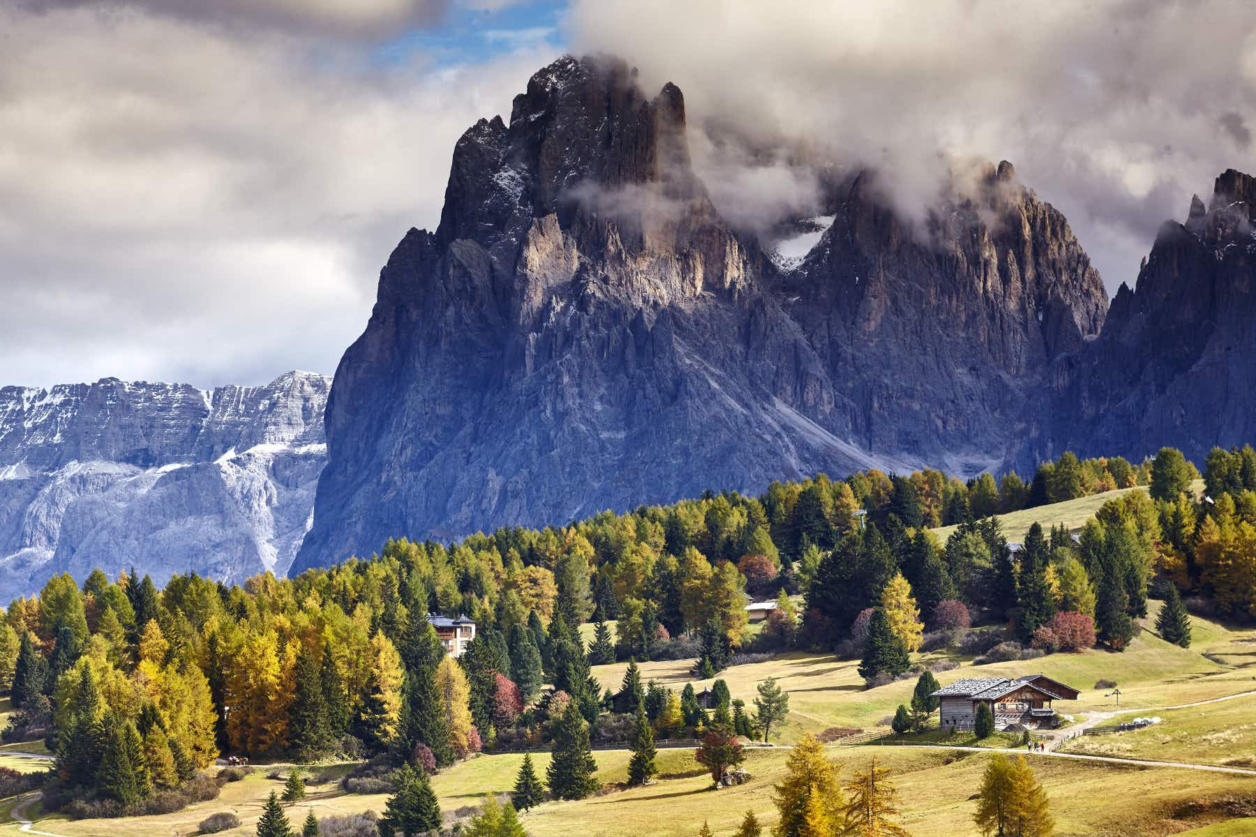 The Dolomites' Sella Pass restricts car access to safeguard environment