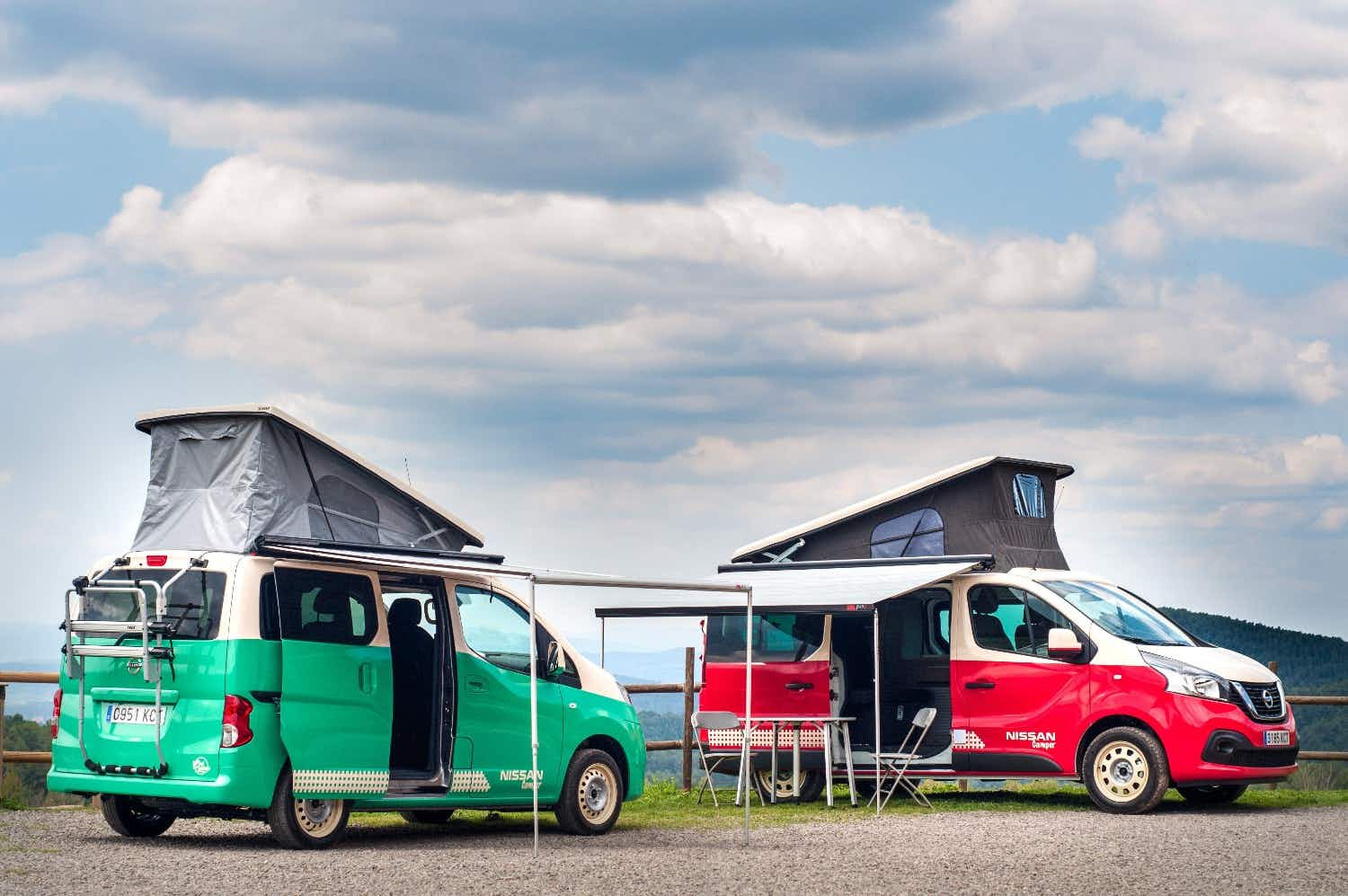 A new pop-top electric camper is powered by battery with ZERO waste emissions