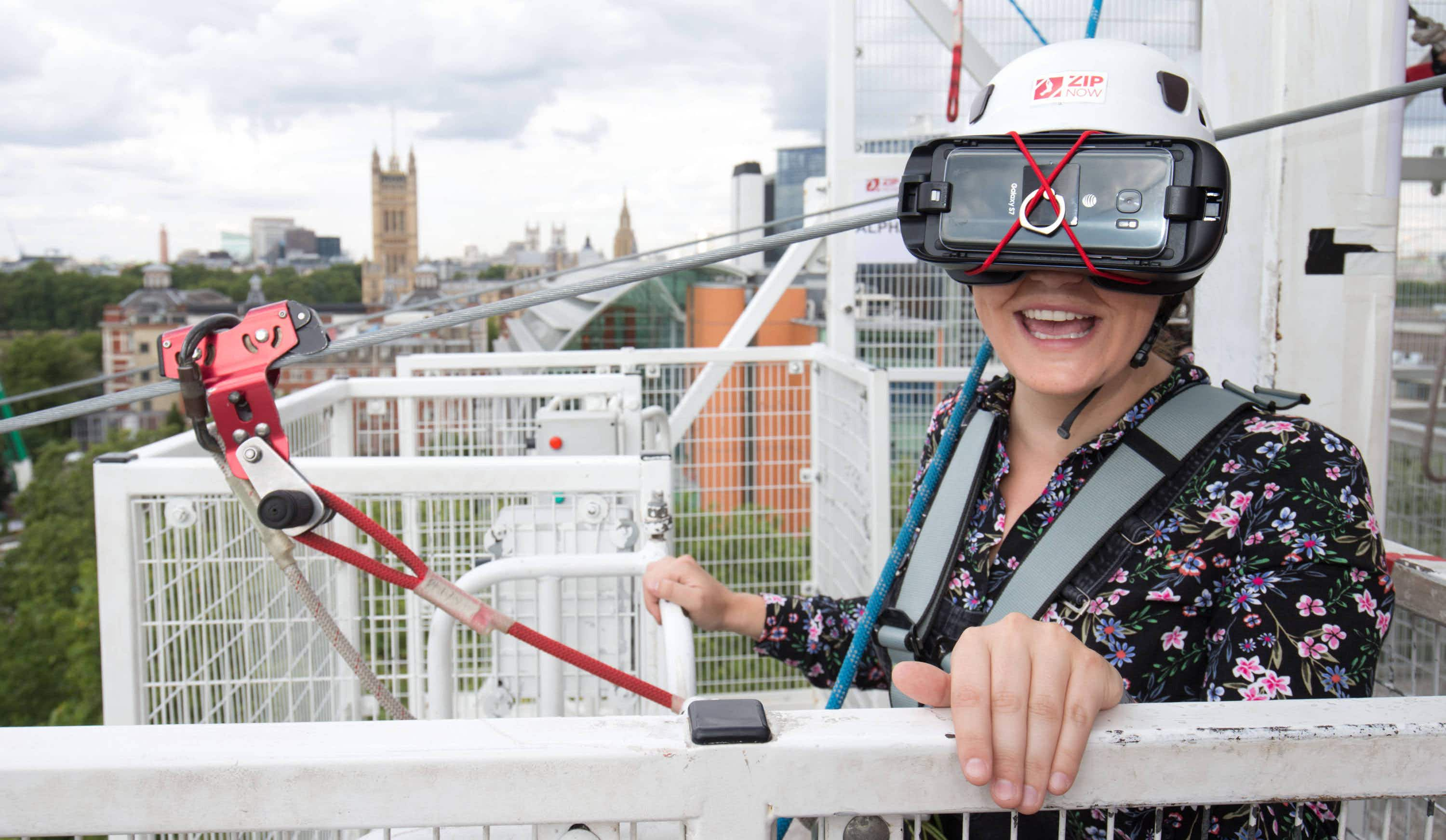 Take a virtual ride on the UAE's record-breaking zipline in the middle of London