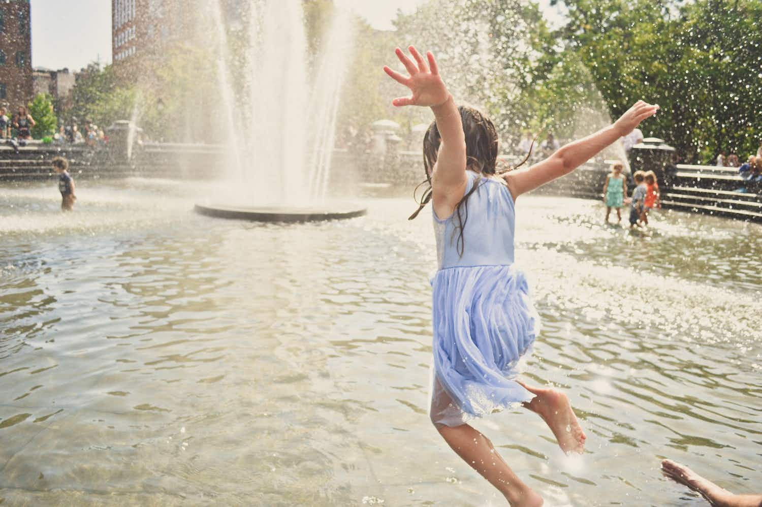 If it gets too hot  in New York, it's legal to jump into its fountains to cool down
