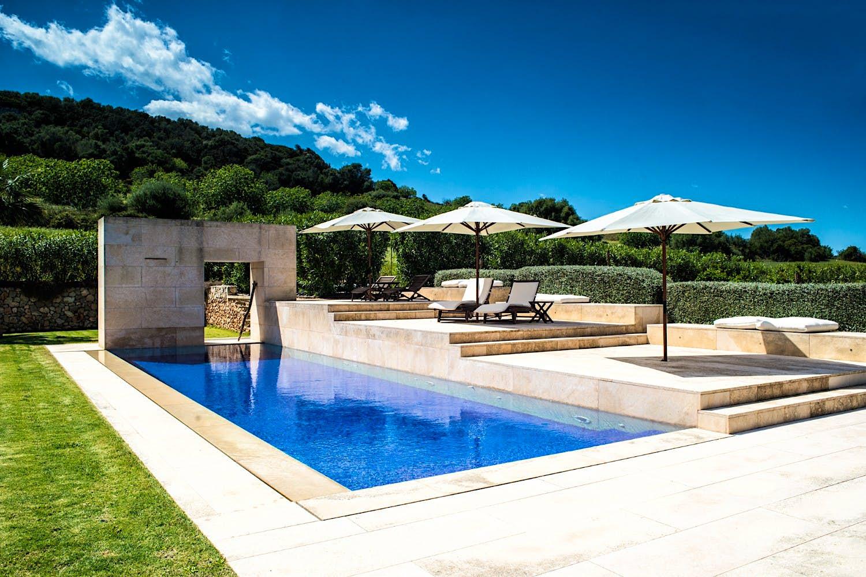 The pool at Love Island's Casa Amor in Mallorca