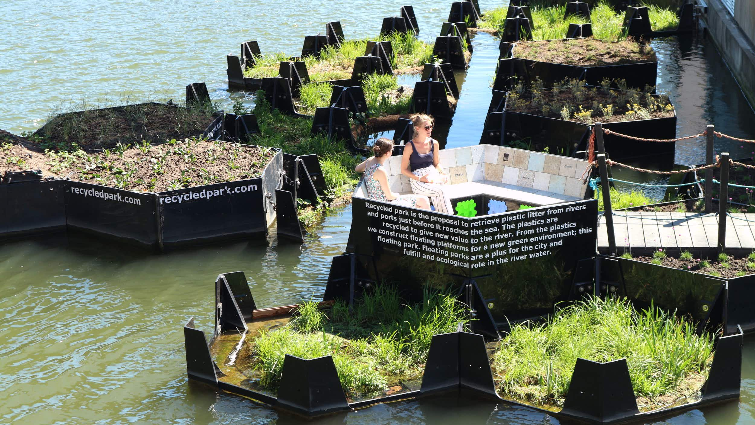 Visit Rotterdam's floating park made entirely from recycled waste
