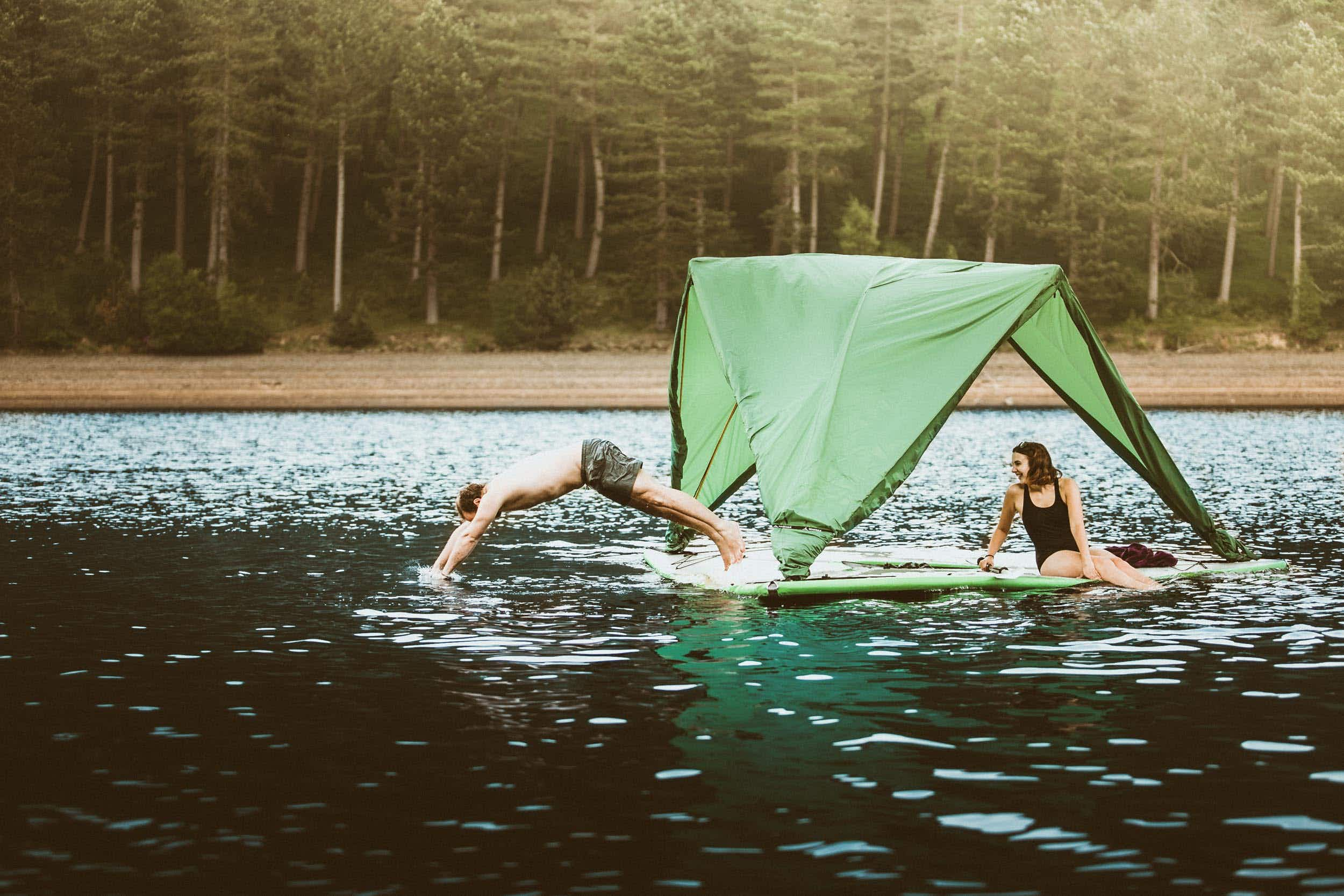 Introducing the tent that works on land, sea and air