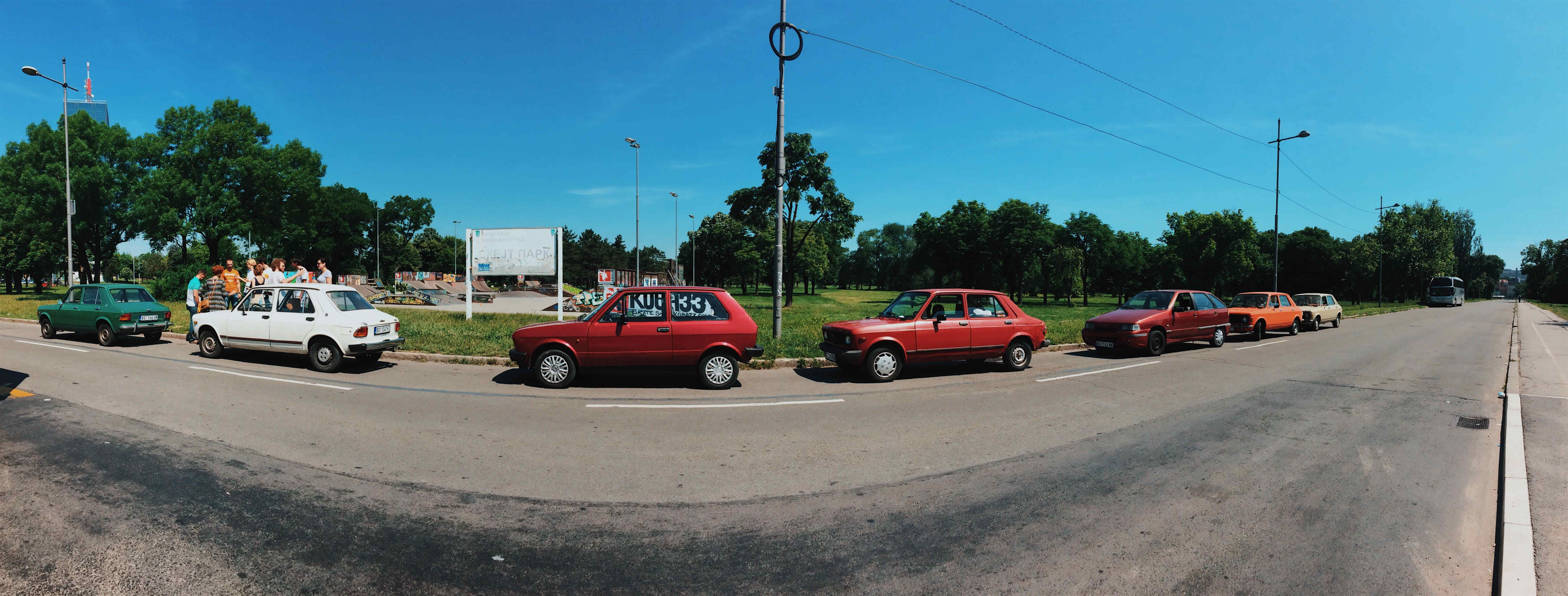 Jump into an old Yugo car to explore a country that no longer exists