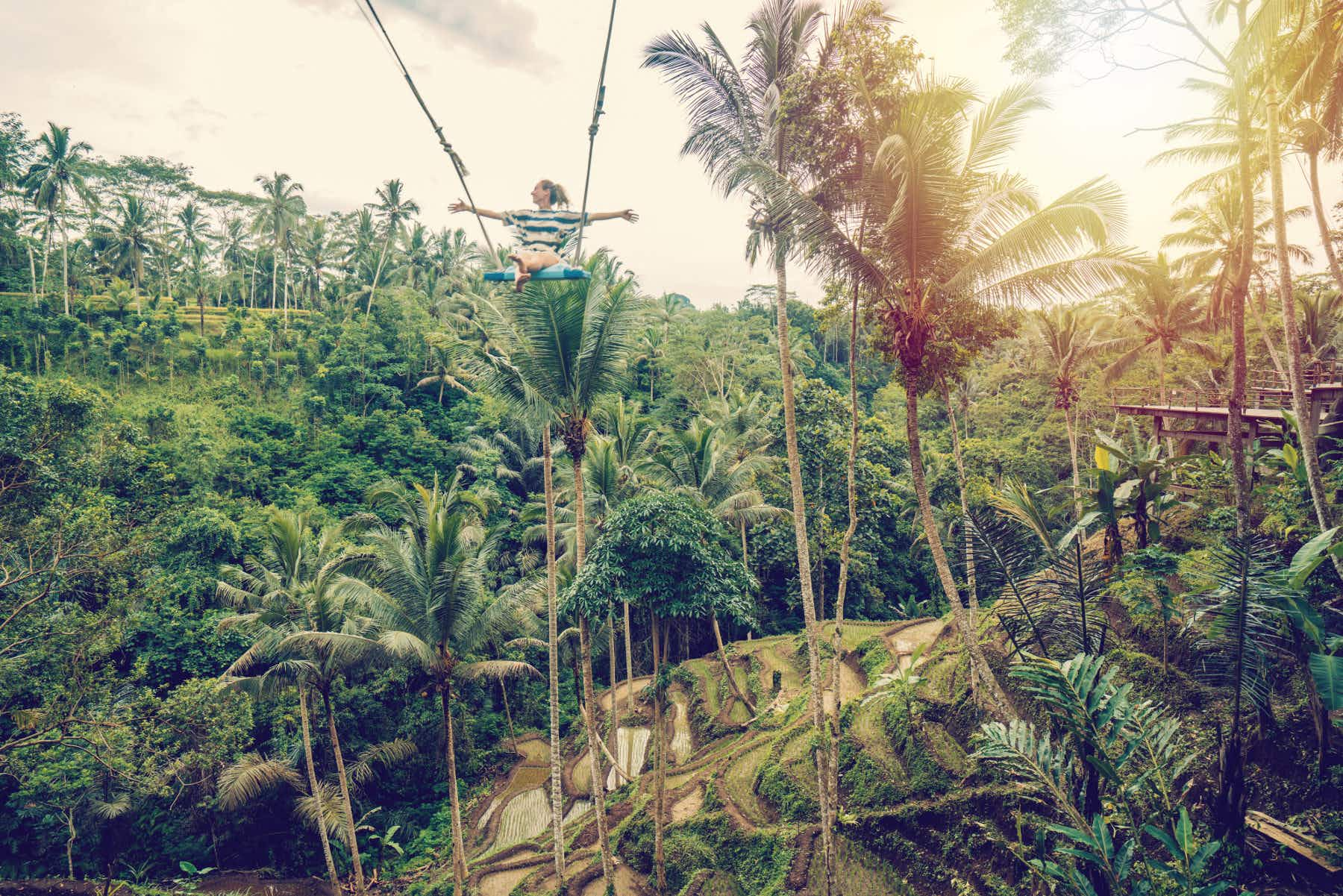 Did you know you can swing over the jungle in Bali?