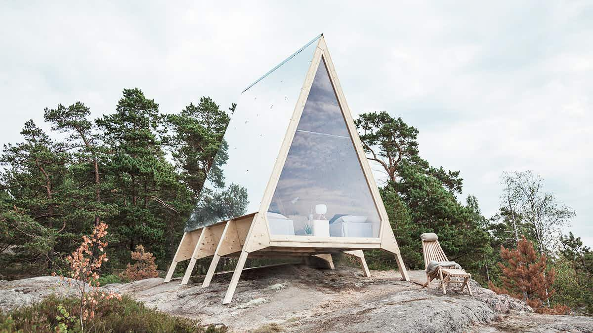 Stay in a rustic zero-emissions cabin on an untouched Finnish island