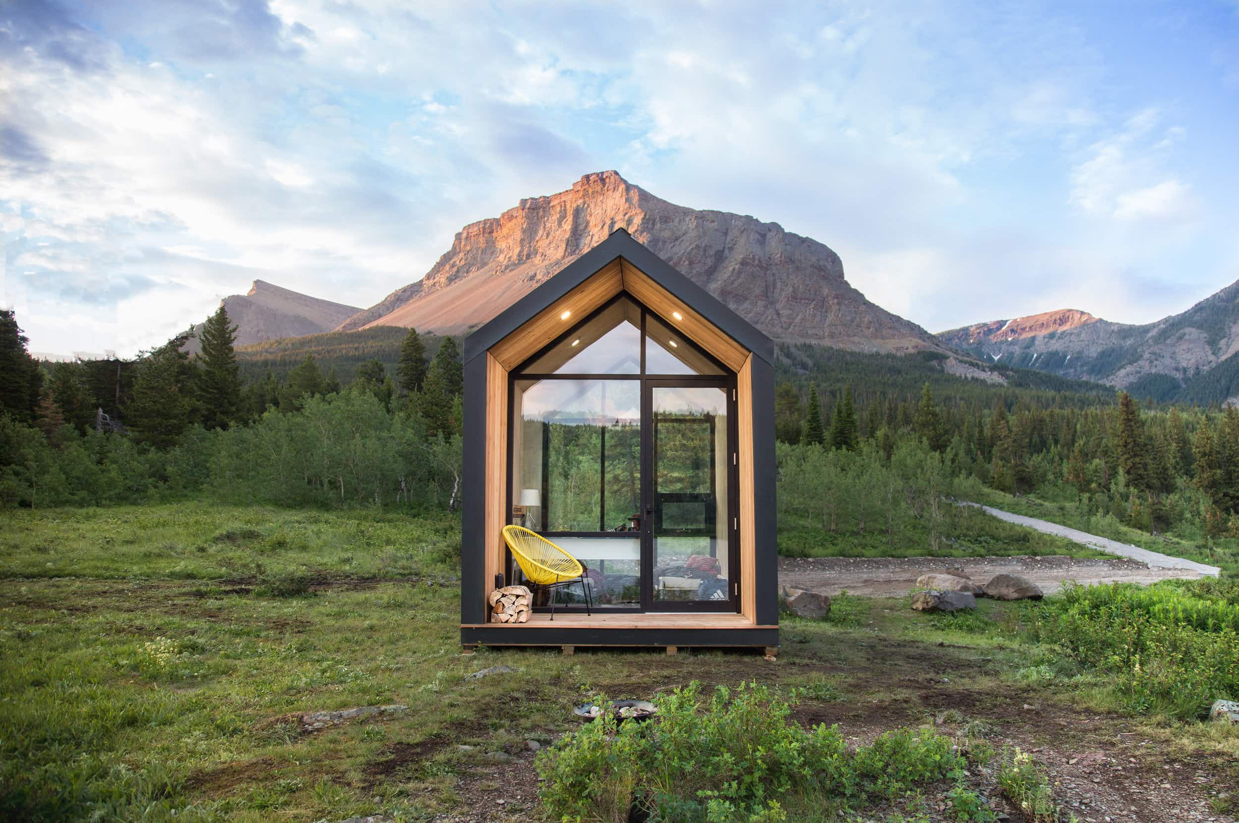 Experience the great outdoors in a pop-up cabin