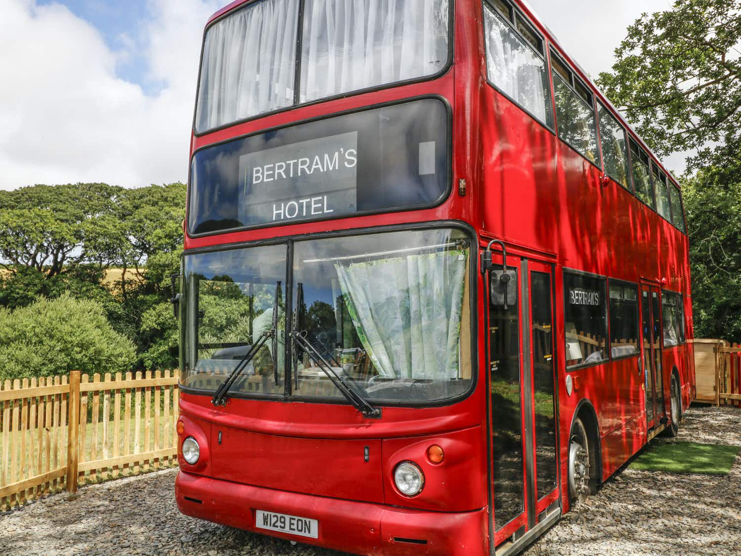 All aboard the Agatha Christie-inspired hotel inside a vintage double decker bus