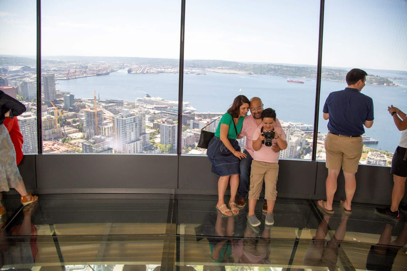 See Seattle through a rotating glass floor with the Space Needle's $100m renovation
