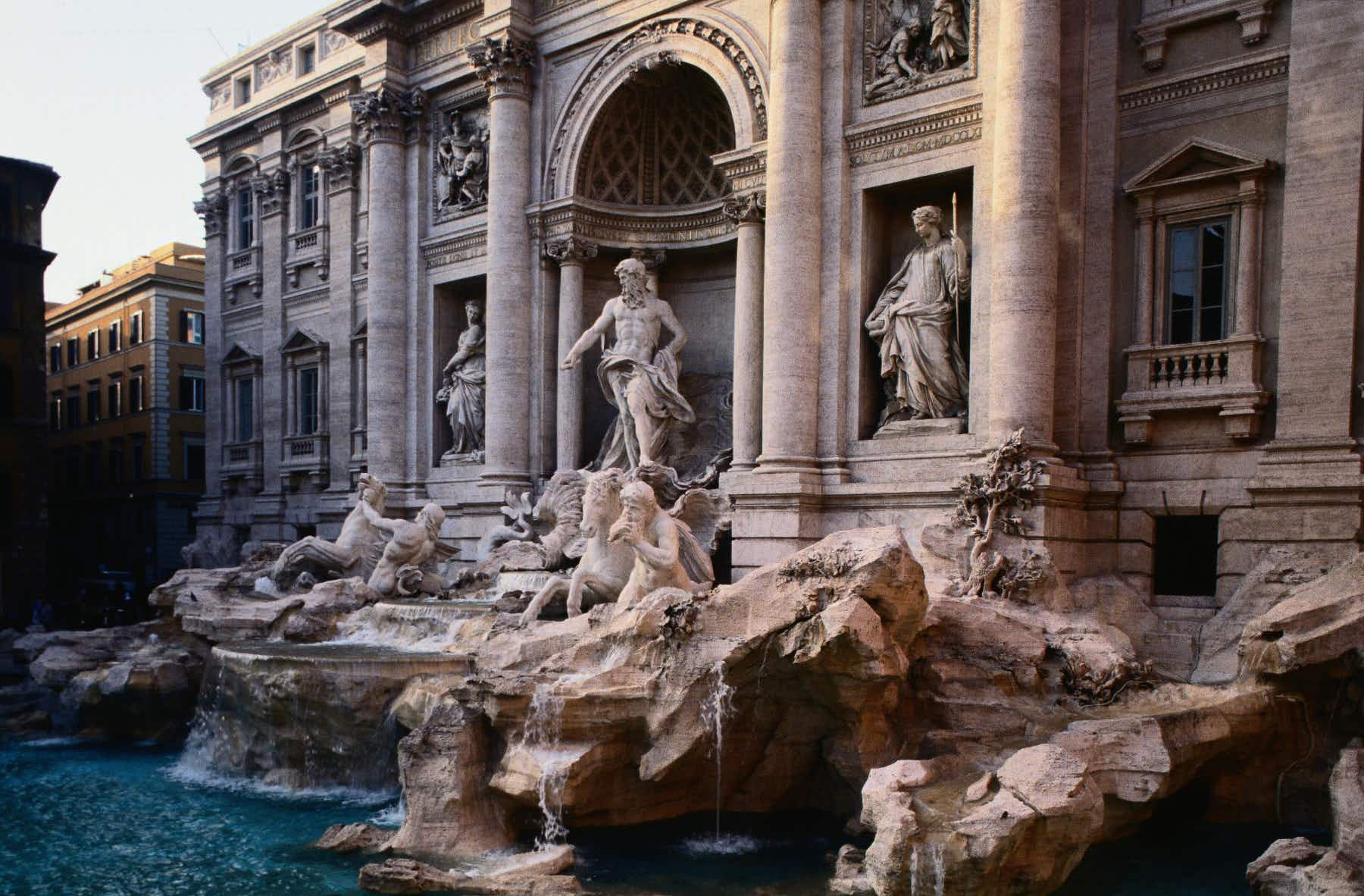Tourists are literally fighting over the best selfie spot at the Trevi Fountain