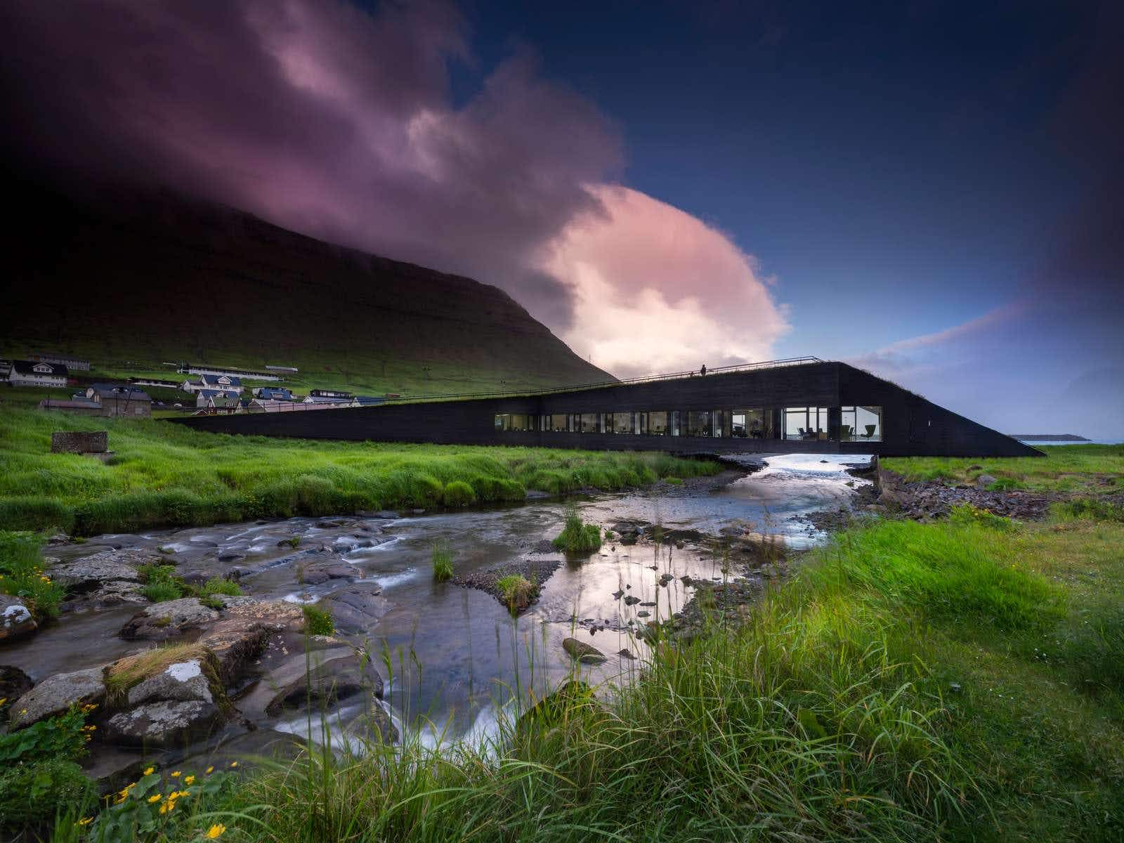 Faroe Islands newest town hall is a bridge linking two villages